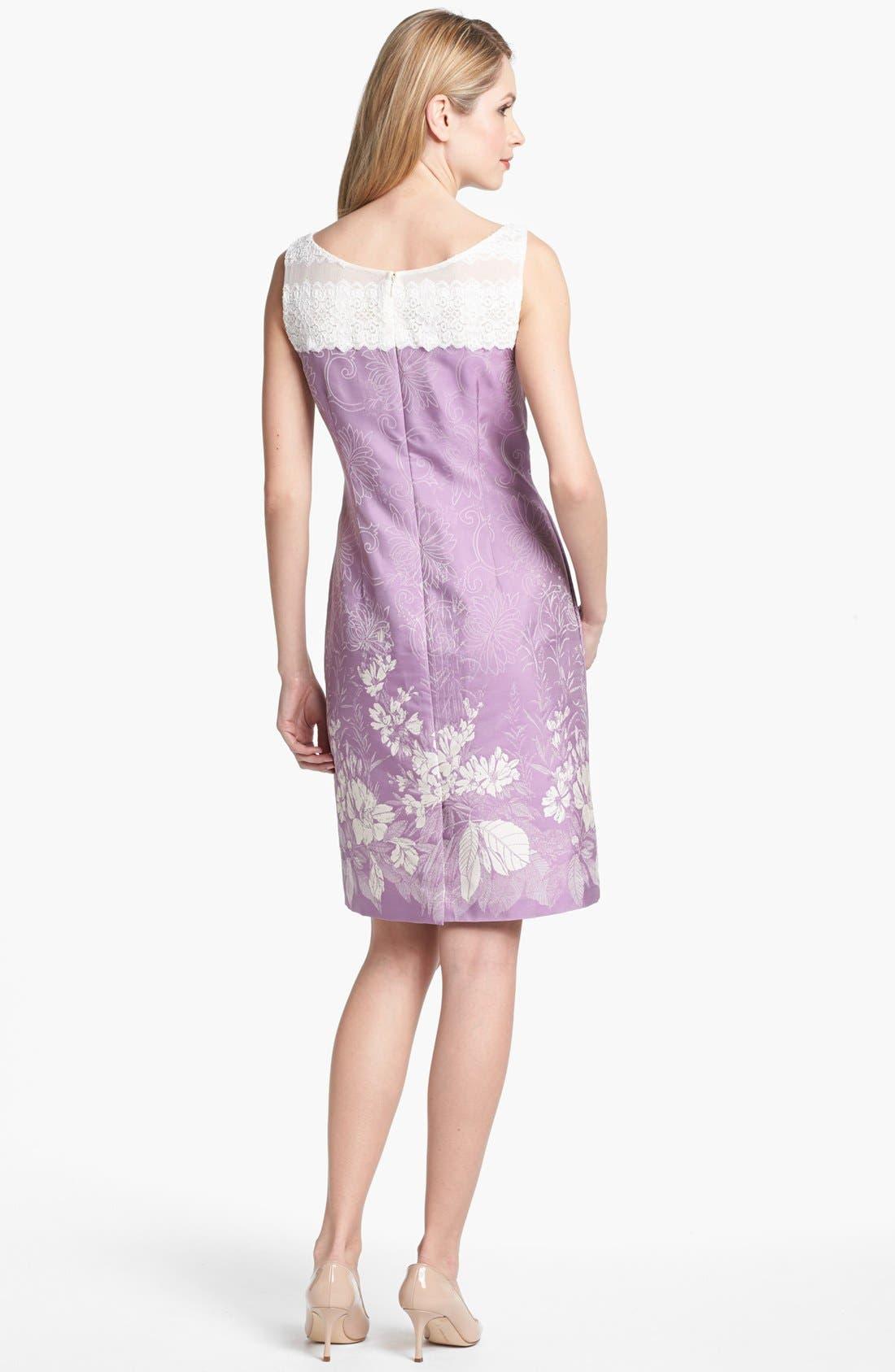 Alternate Image 2  - Alex Evenings Print Sleeveless Sheath Dress