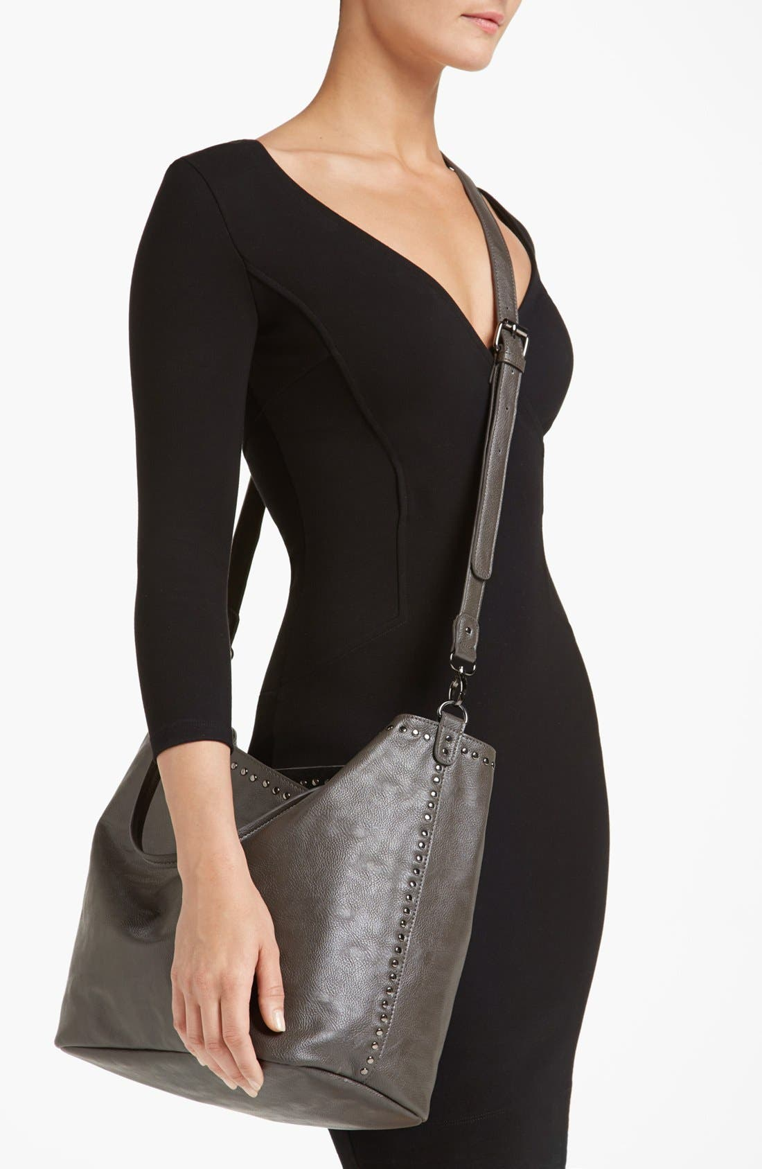 Alternate Image 2  - NB Handbags Studded Faux Leather Tote (Juniors)