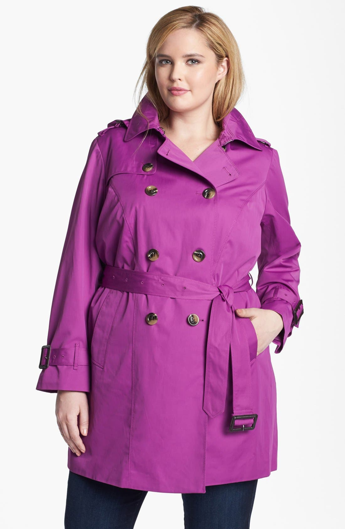 Alternate Image 1 Selected - London Fog Heritage Trench with Detachable Liner (Plus Size)