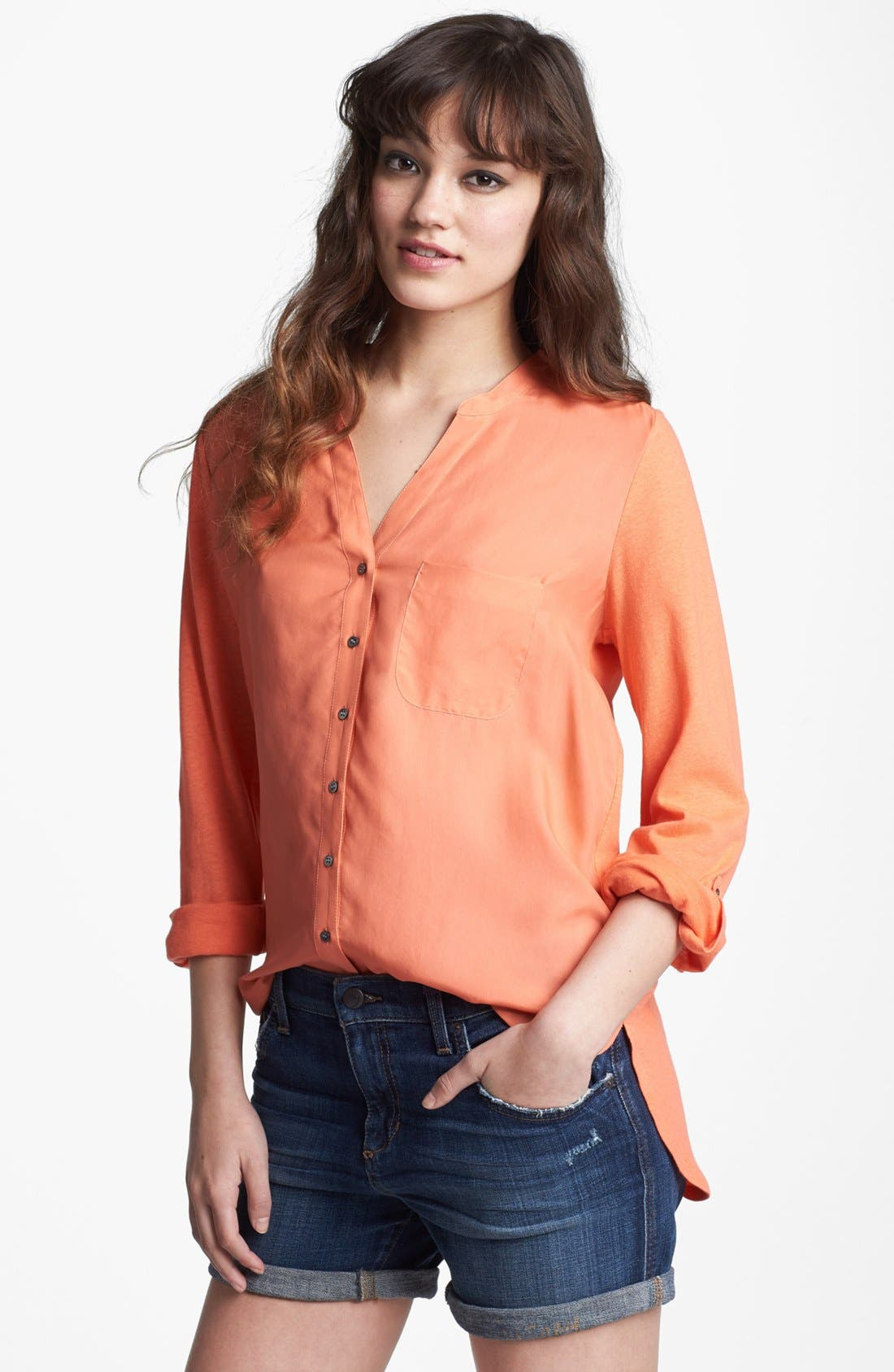 Alternate Image 1 Selected - Soft Joie 'Evaine' Silk Front Blouse