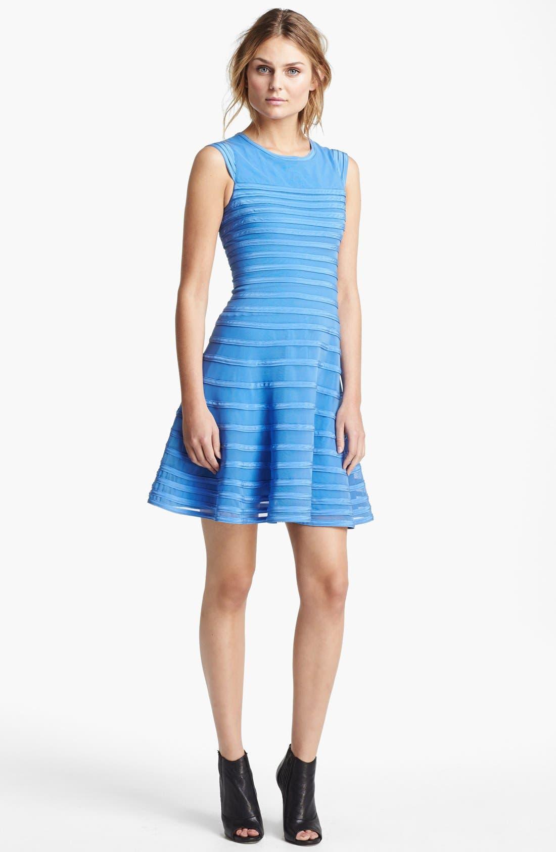 Alternate Image 1 Selected - Halston Heritage Contrast Stripe Flare Dress