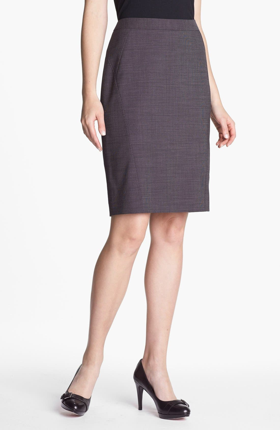 Alternate Image 1 Selected - Classiques Entier® Stretch Wool Skirt