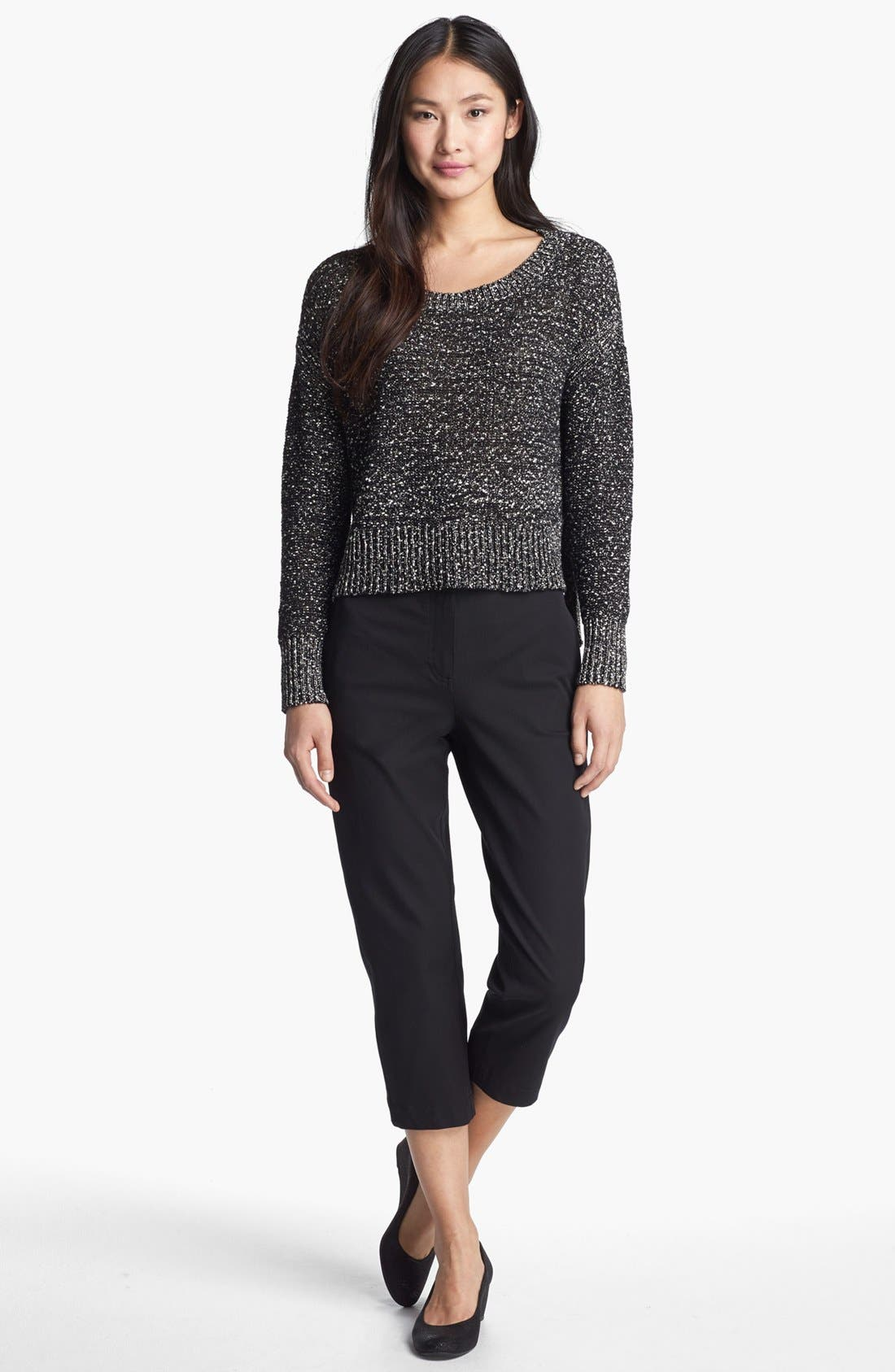 Alternate Image 4  - Eileen Fisher Wrapped Cotton Nubble Sweater