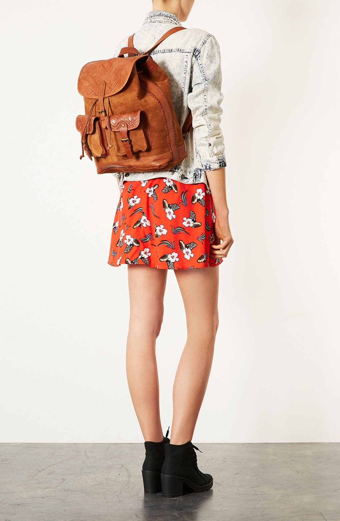 Alternate Image 2  - Topshop Suede Backpack