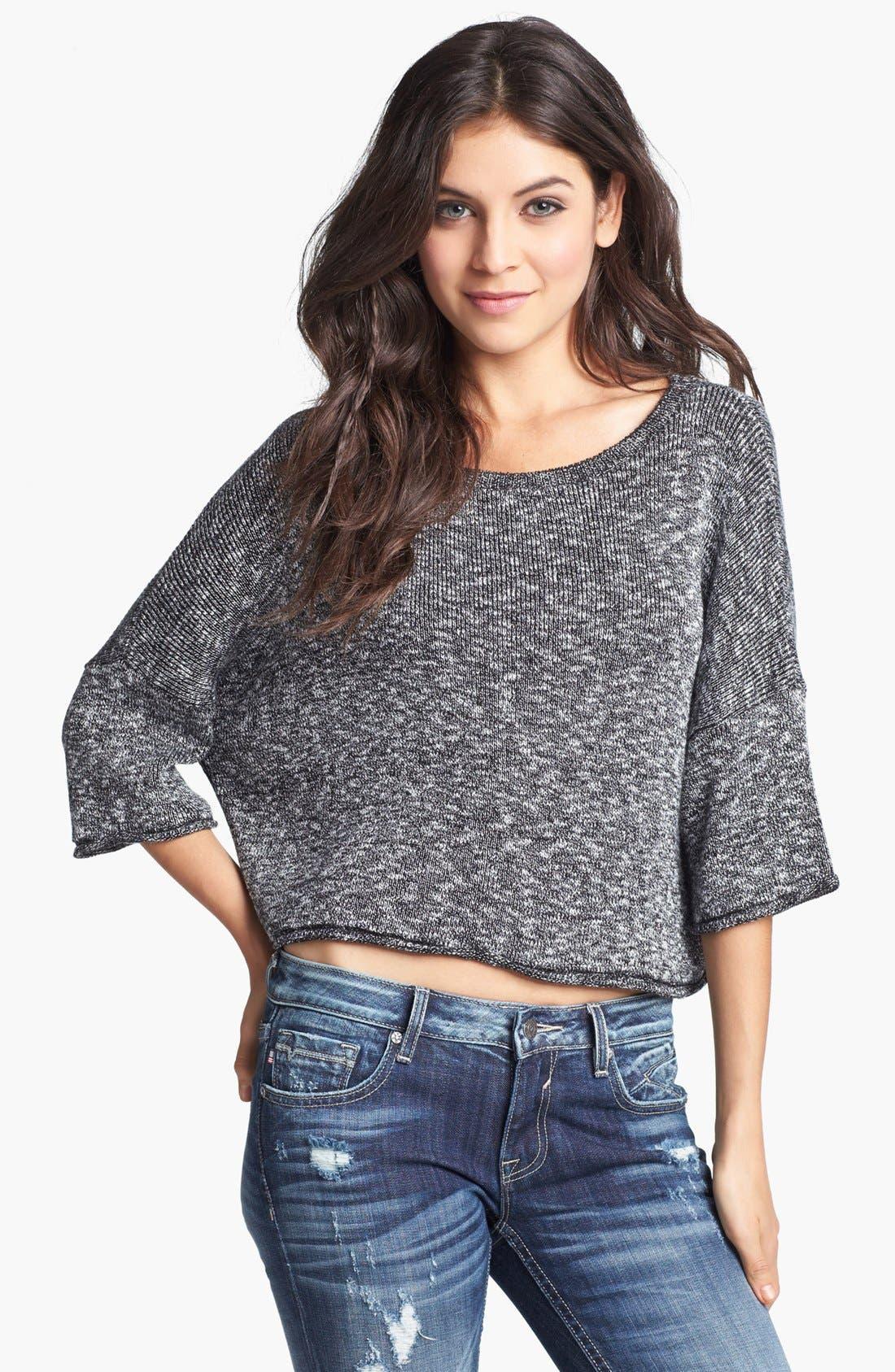 Alternate Image 1 Selected - Truehitt Marled Crop Sweater (Juniors)