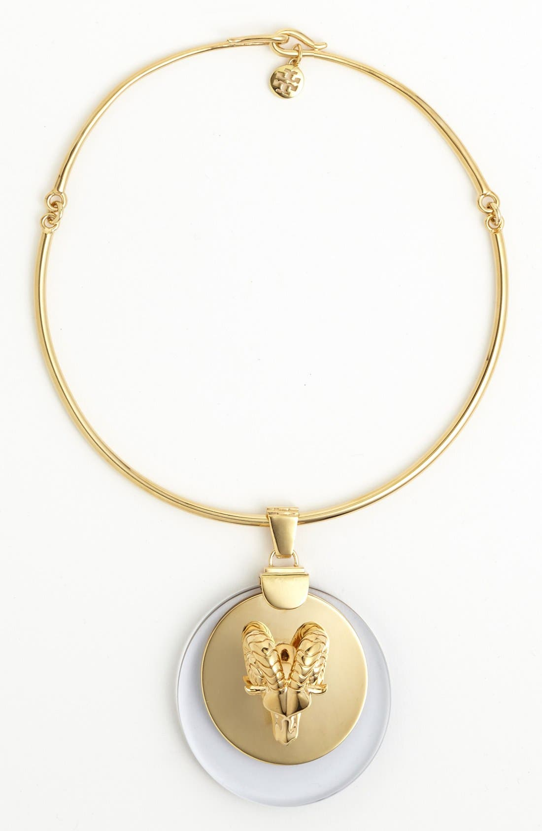 Alternate Image 1 Selected - Tory Burch Ram Head Pendant Necklace