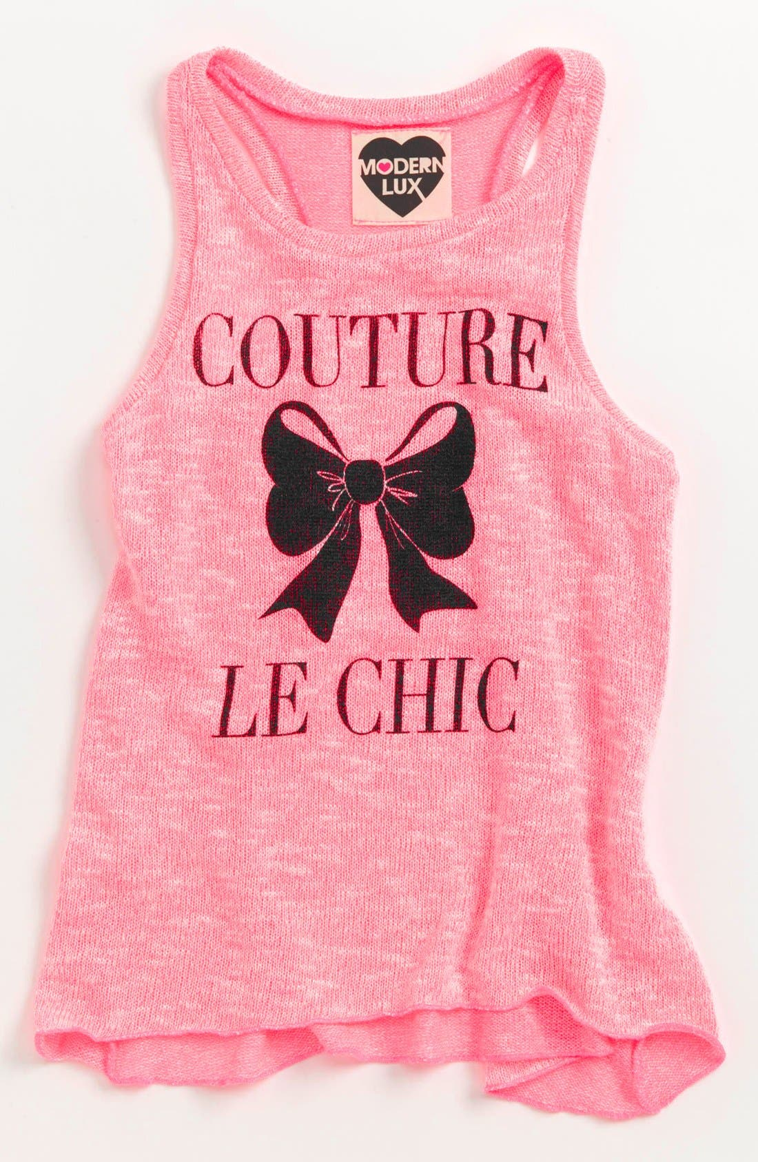 Alternate Image 1 Selected - Modern Lux Knit Tank Top (Big Girls)