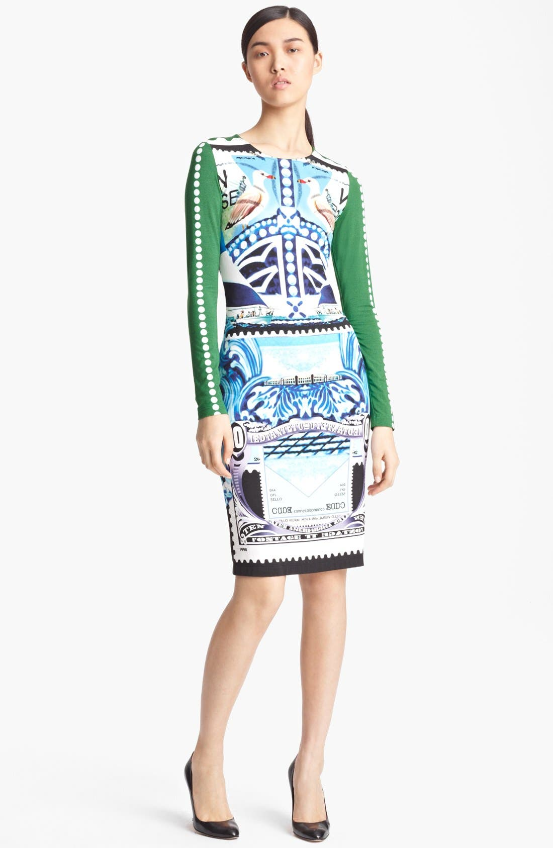 Main Image - Mary Katrantzou Bird Print Jersey Dress