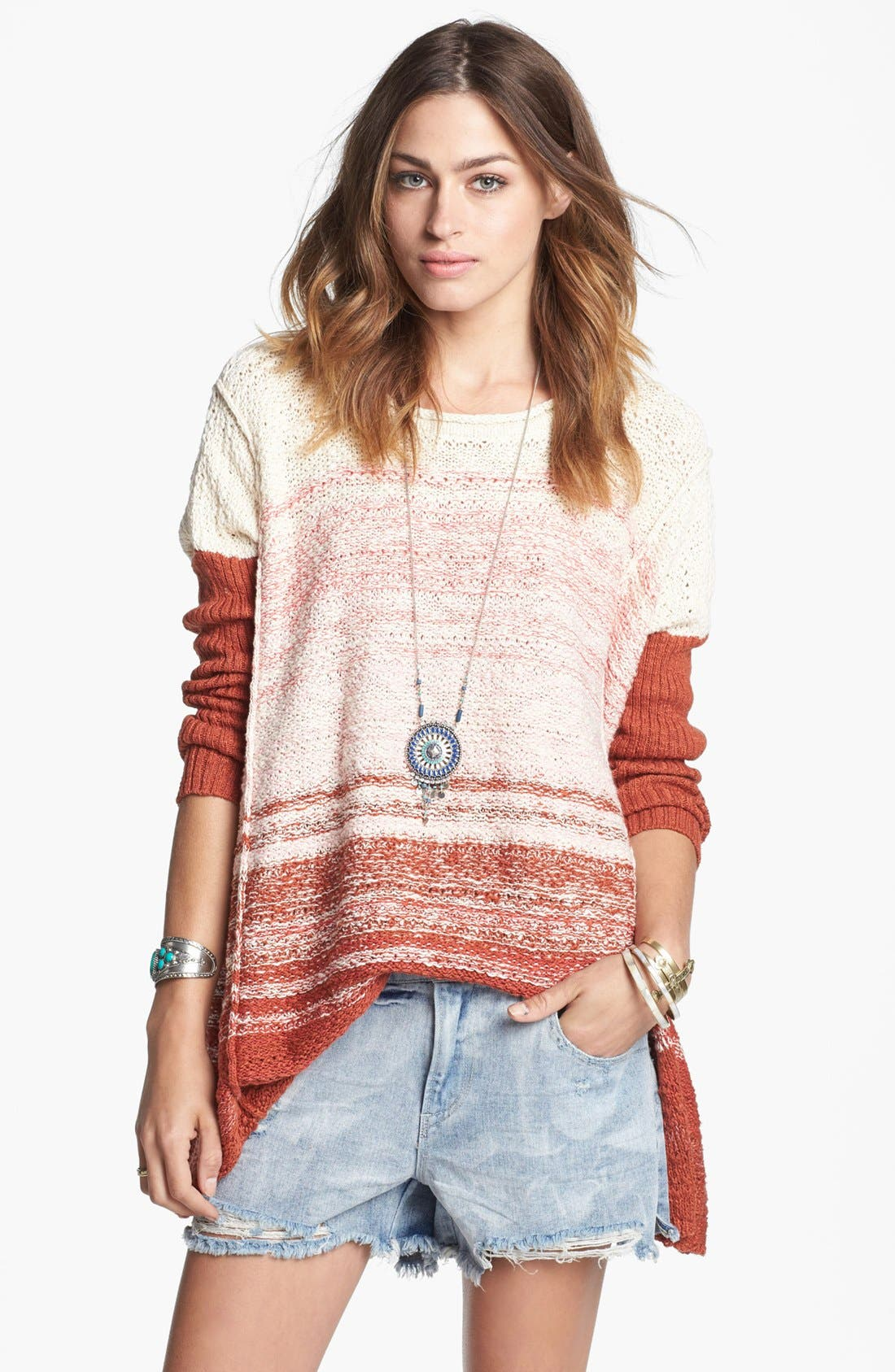 Main Image - Free People 'Po' Textured Sweater