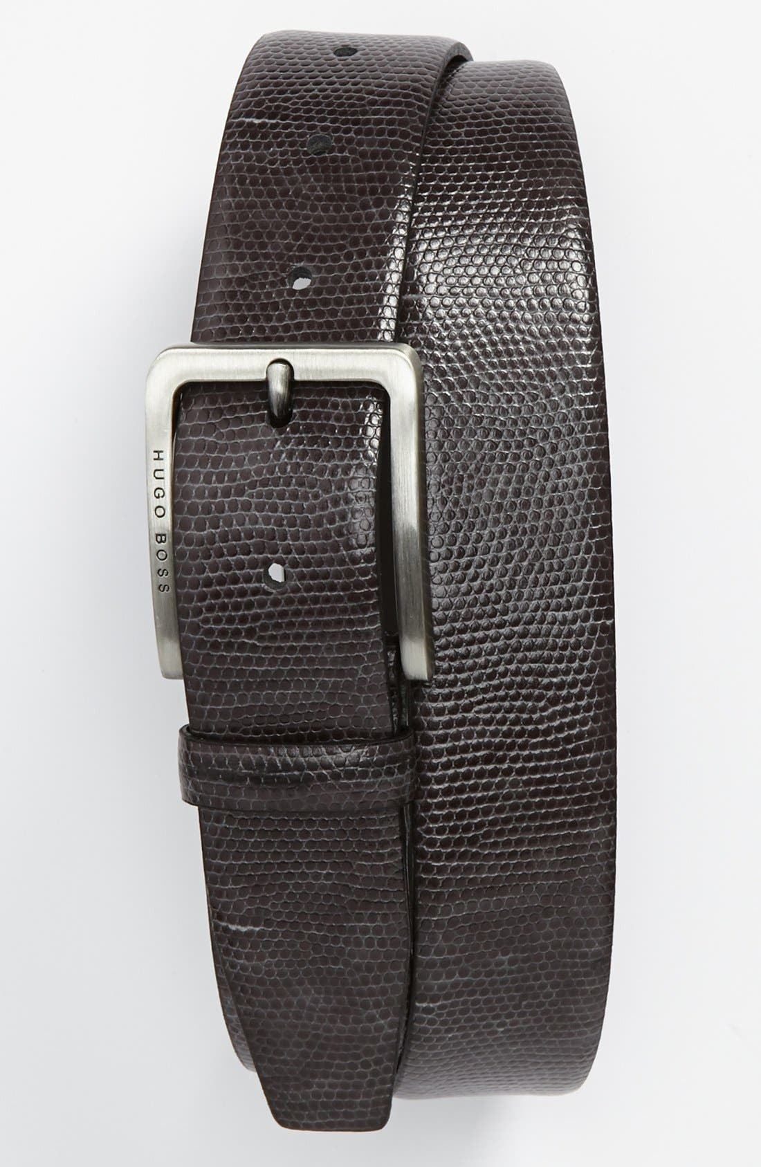 Alternate Image 1 Selected - BOSS HUGO BOSS 'Petros' Leather Belt