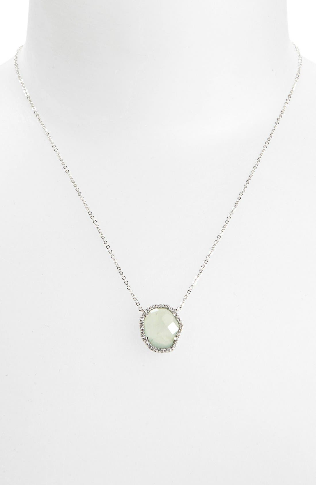 Alternate Image 1 Selected - Nadri Aquamarine Pendant Necklace (Nordstrom Exclusive)