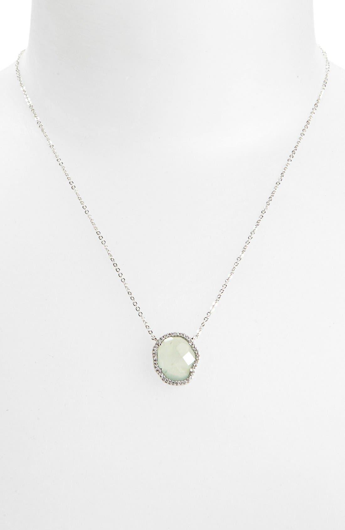 Main Image - Nadri Aquamarine Pendant Necklace (Nordstrom Exclusive)