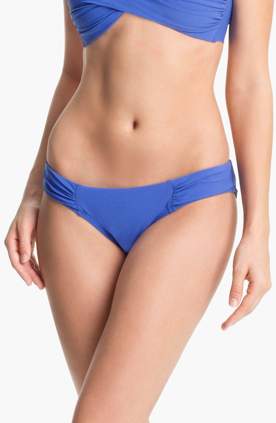 Main Image - Robin Piccone Shirred Side Bikini Bottoms