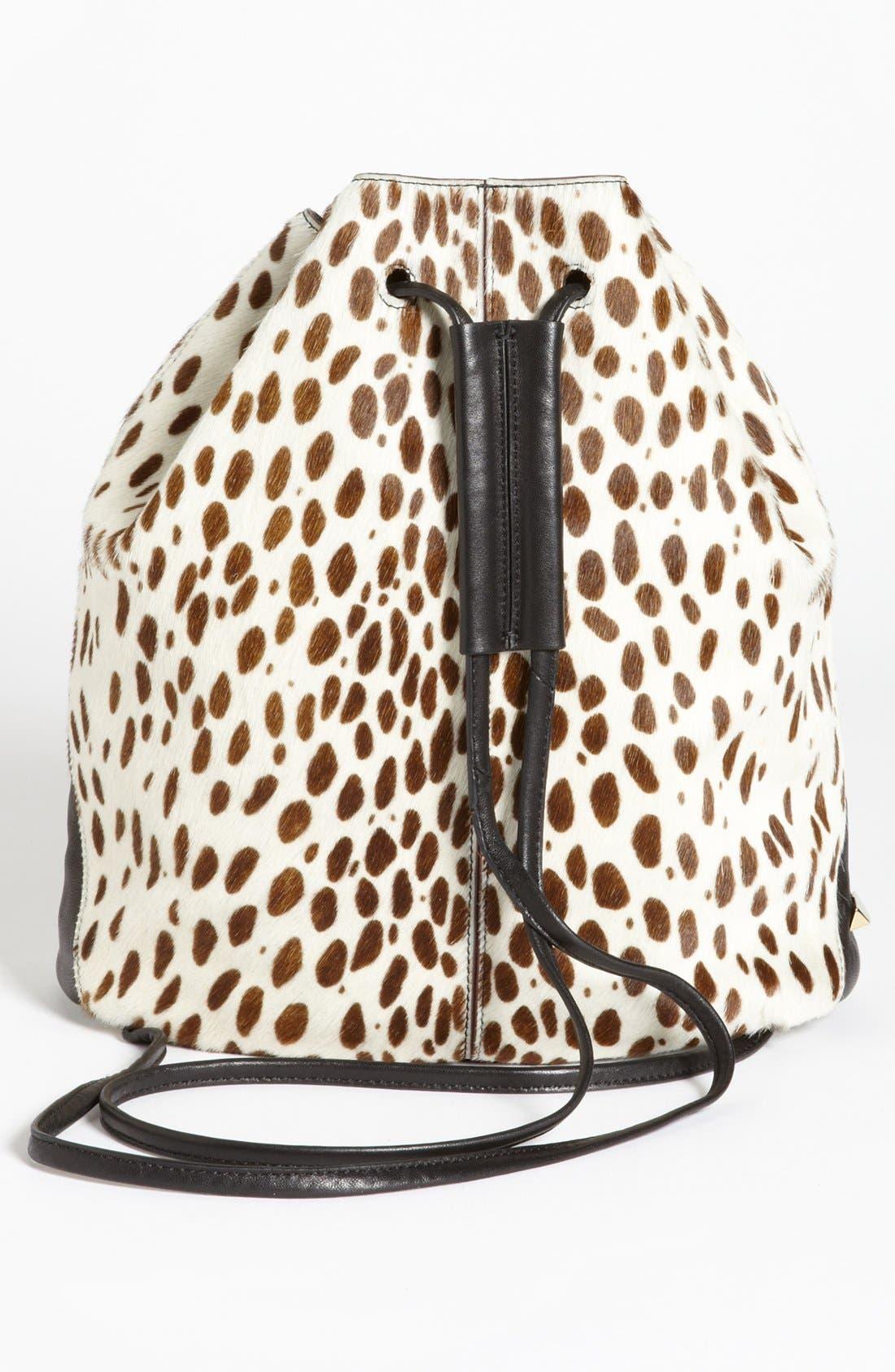 Alternate Image 3  - Elizabeth and James Spotted Calf Hair Sling Backpack