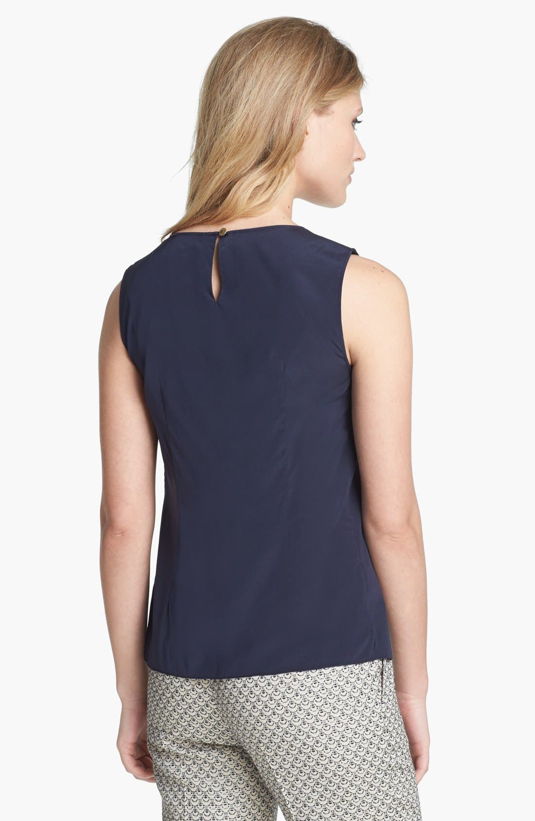 Alternate Image 2  - Tory Burch 'Claire' Stretch Silk Top