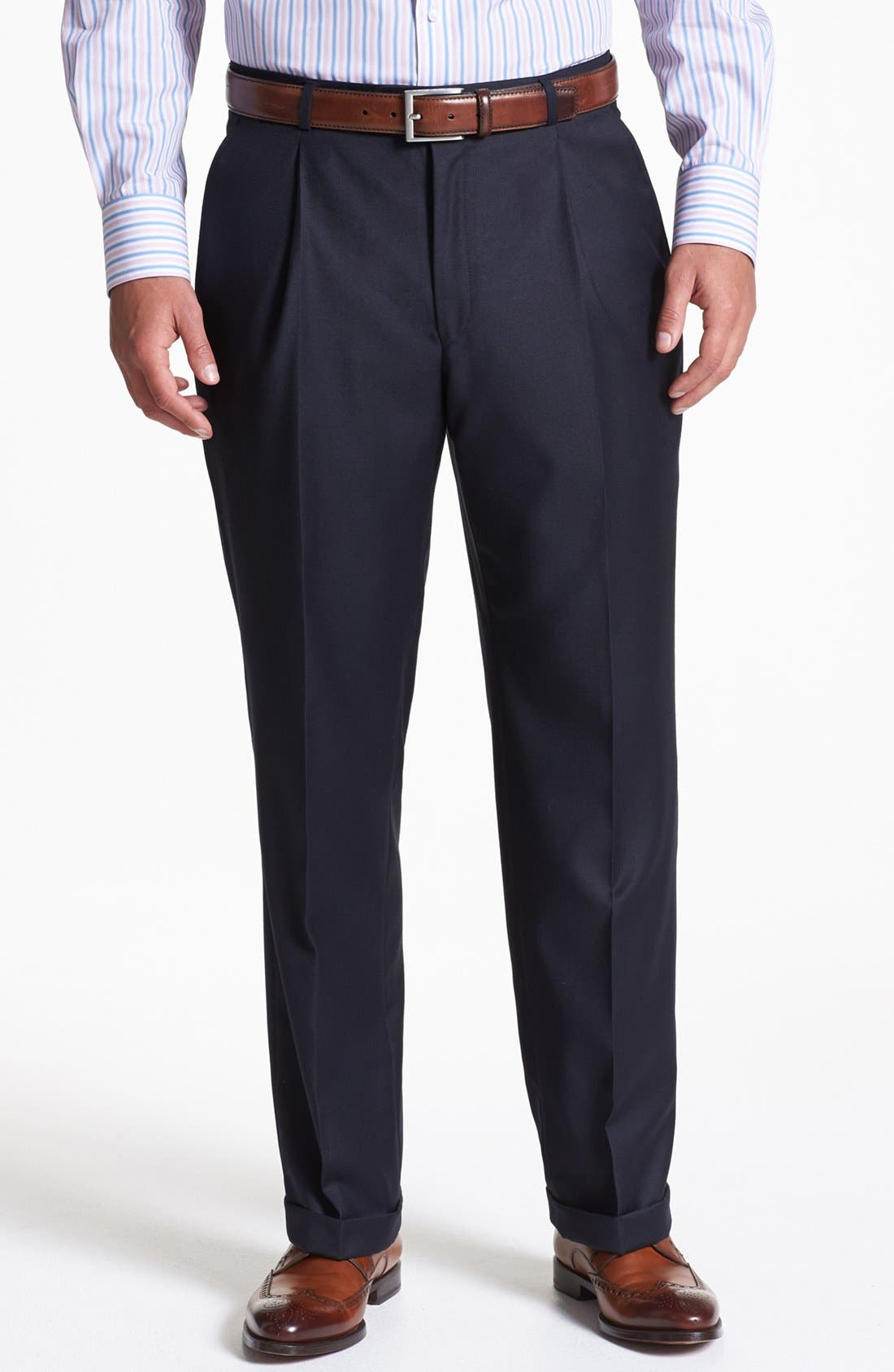 Alternate Image 5  - Hickey Freeman Navy Worsted Wool Suit