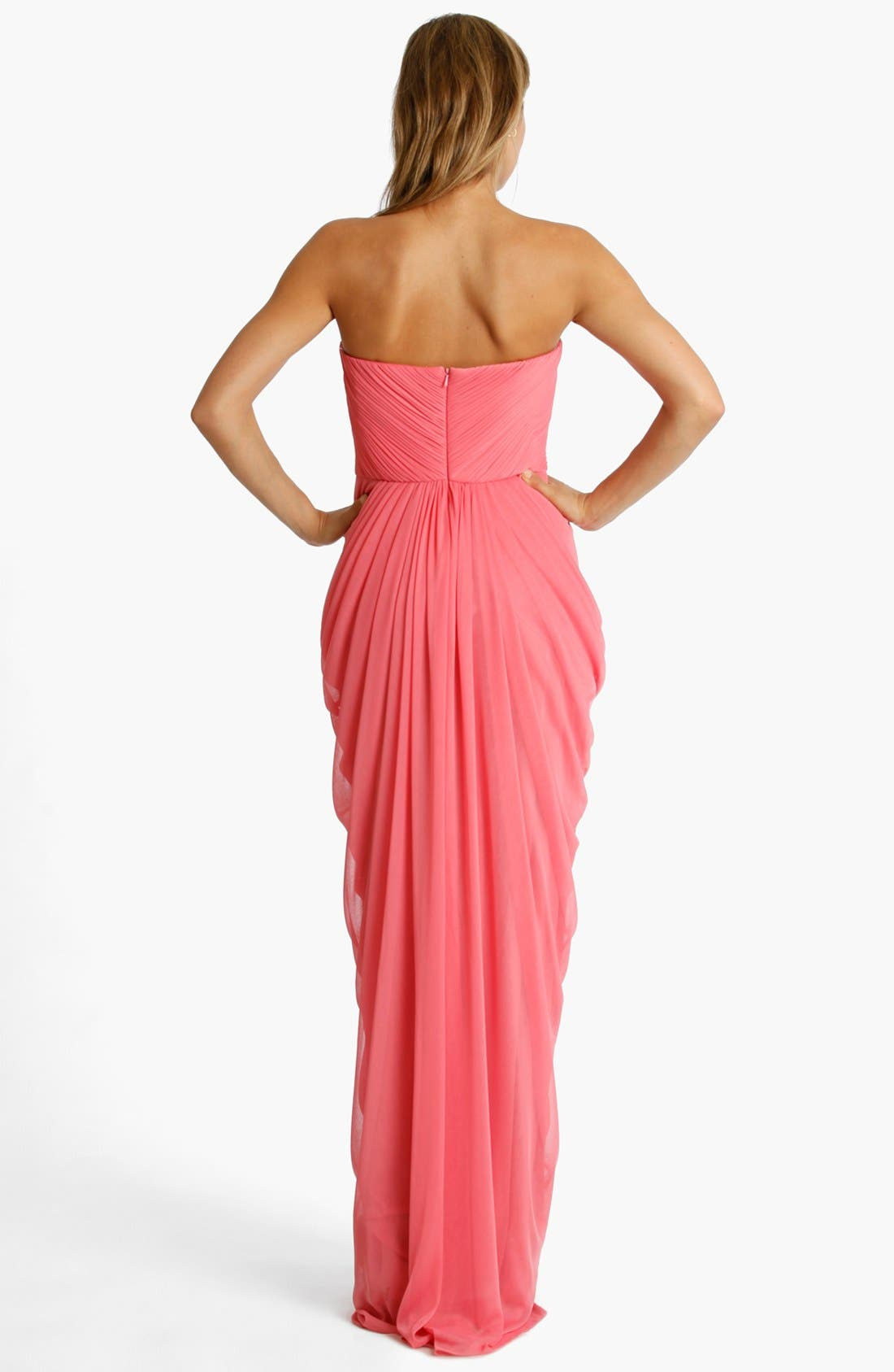 Alternate Image 2  - JS Collections Strapless Draped Jersey Gown