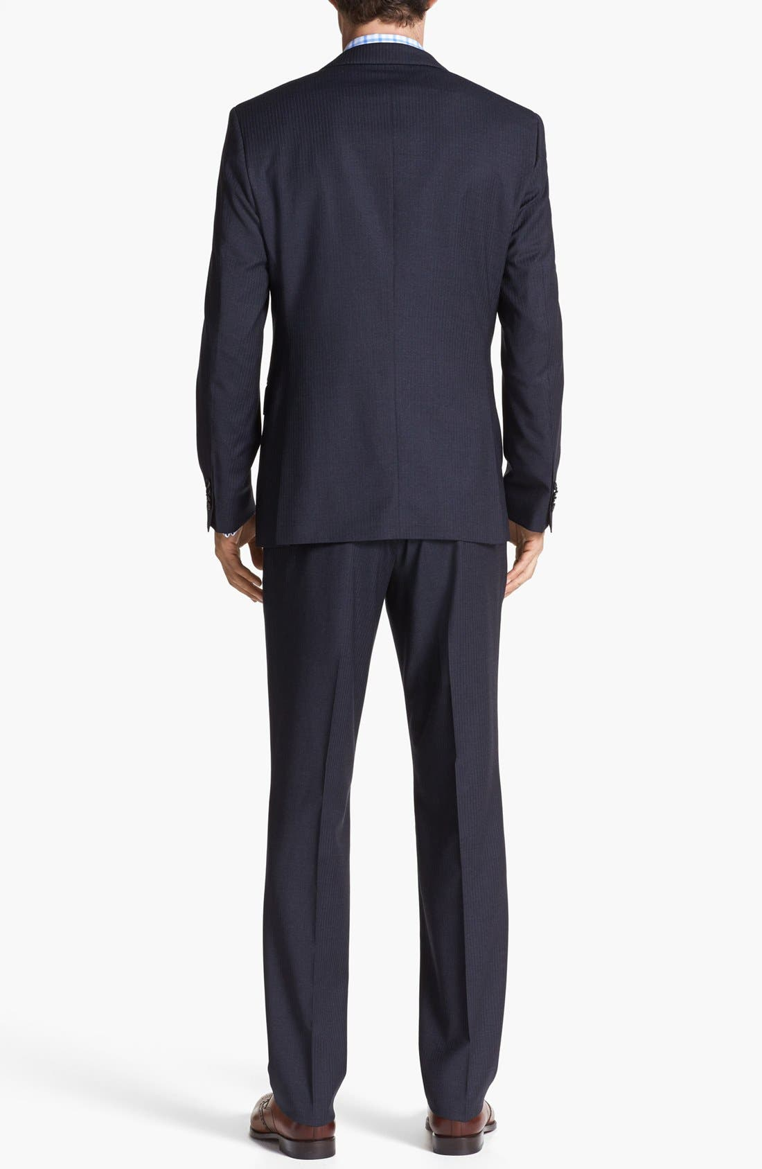 Alternate Image 3  - BOSS HUGO BOSS 'James/Sharp' Trim Fit Stripe Suit