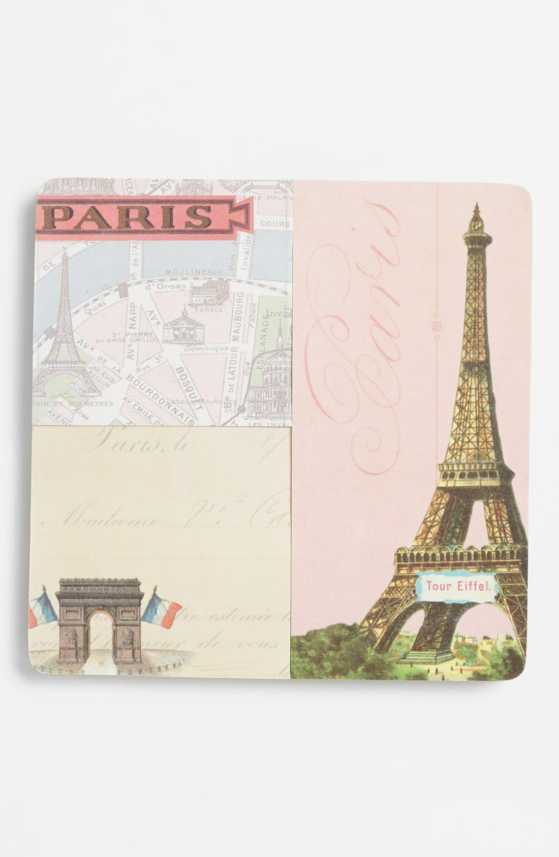 Main Image - Vintage Print Sticky Memo Pads (Set of 3)