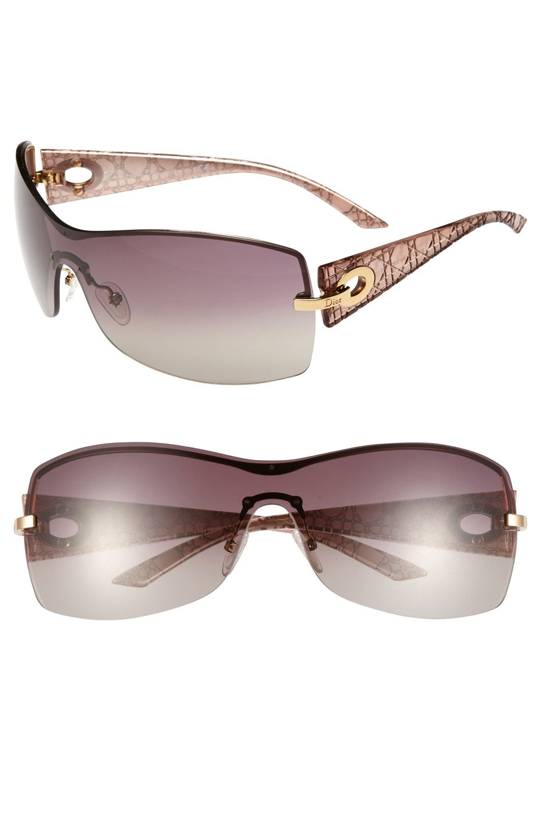 Alternate Image 1 Selected - Dior 'My Lady Dior 4' 99mm Shield Sunglasses