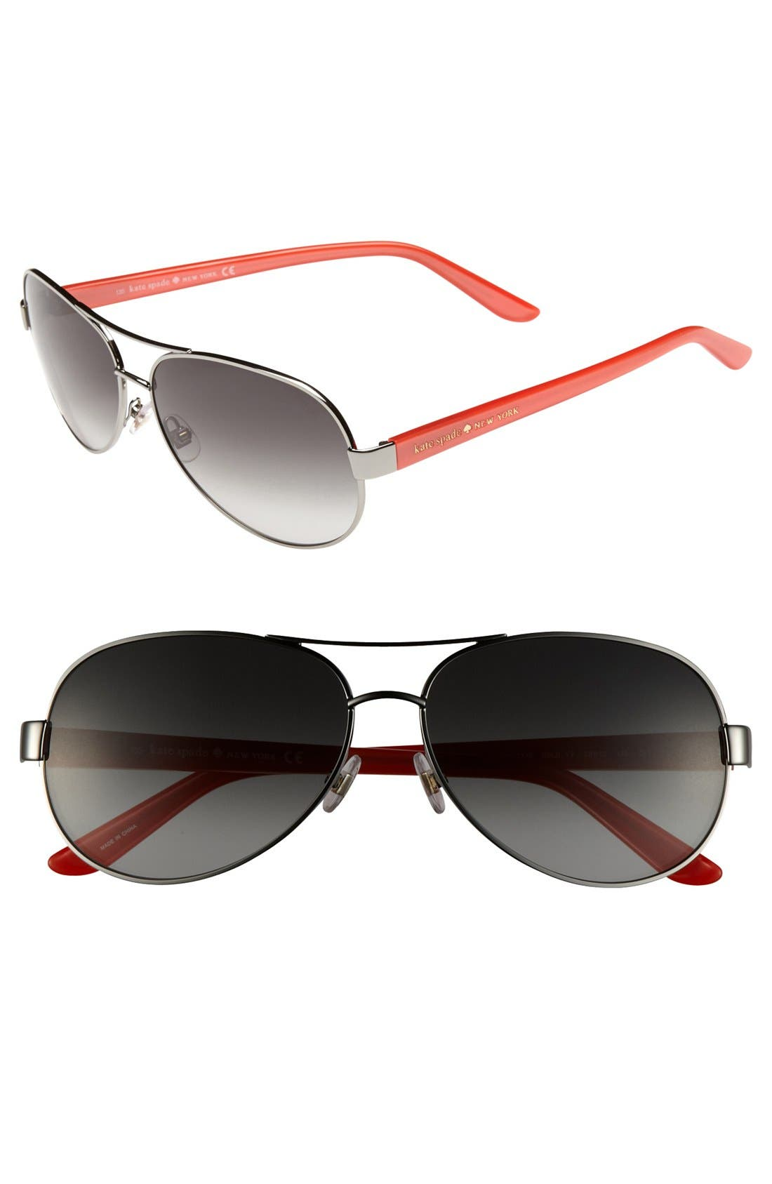 Alternate Image 1 Selected - kate spade new york 'donats' 58mm metal aviator sunglasses
