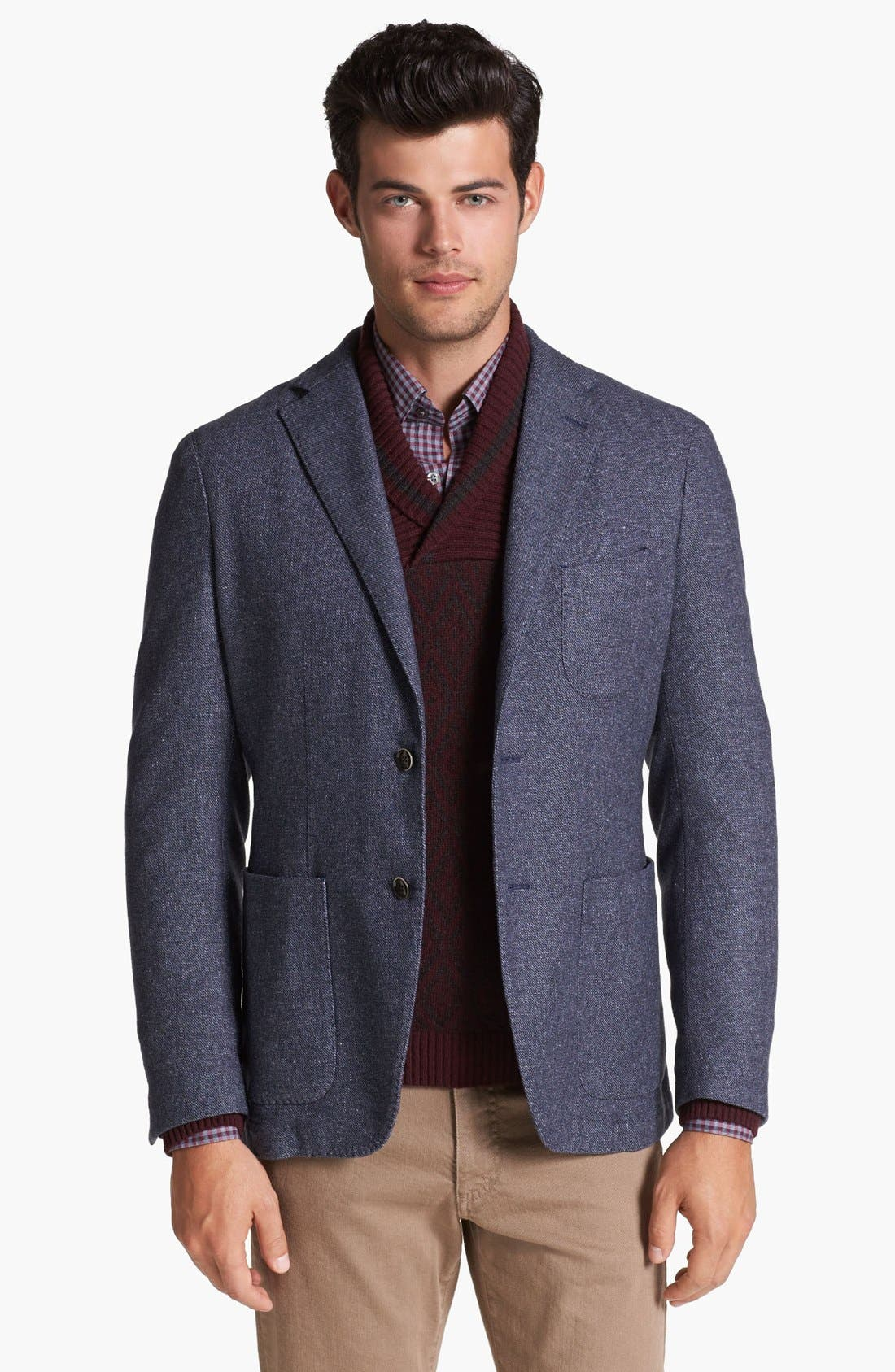 Alternate Image 1 Selected - Canali Washed Italian Sportcoat
