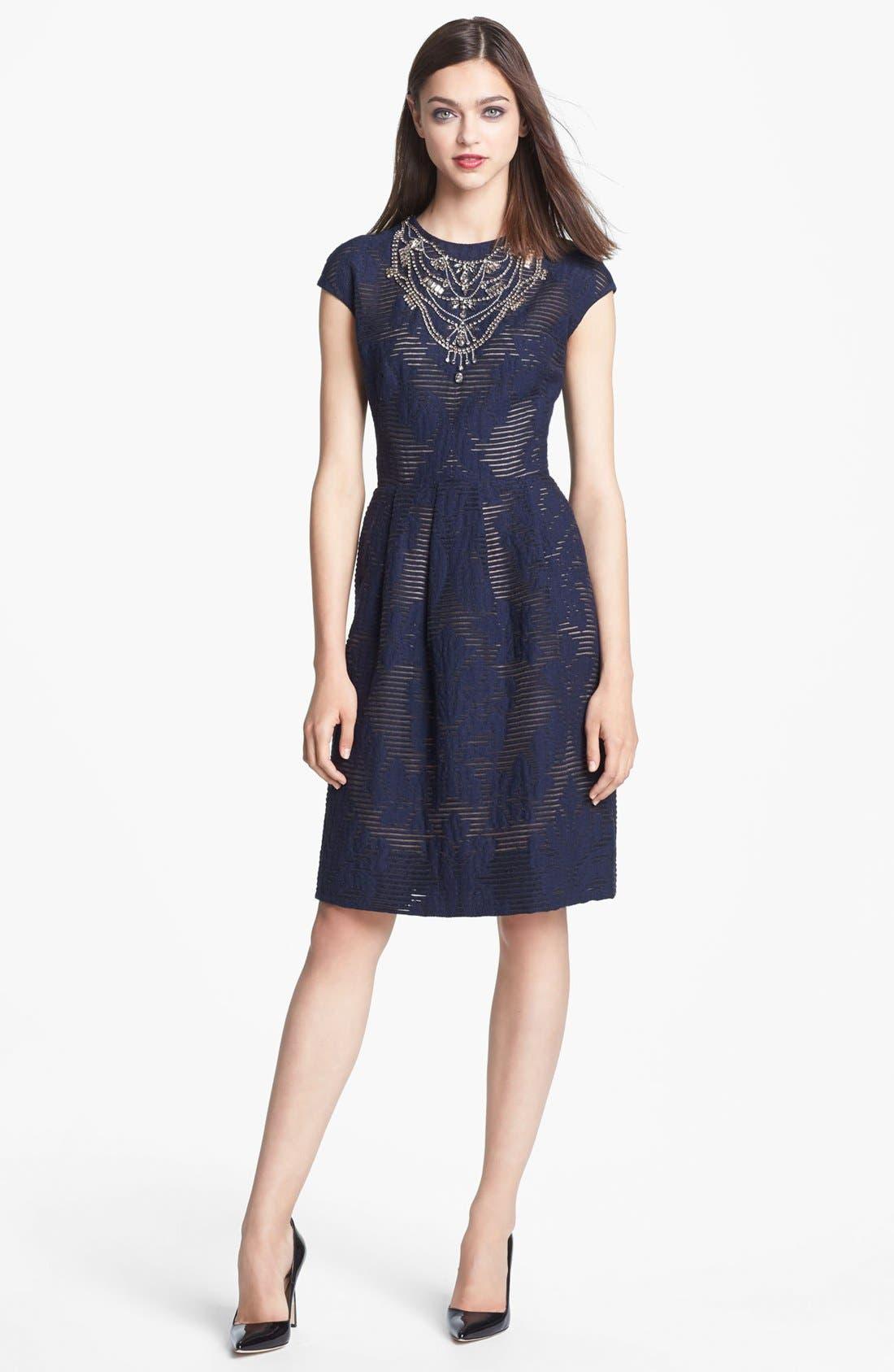 Alternate Image 1 Selected - Lela Rose Full Skirt Cocktail Dress