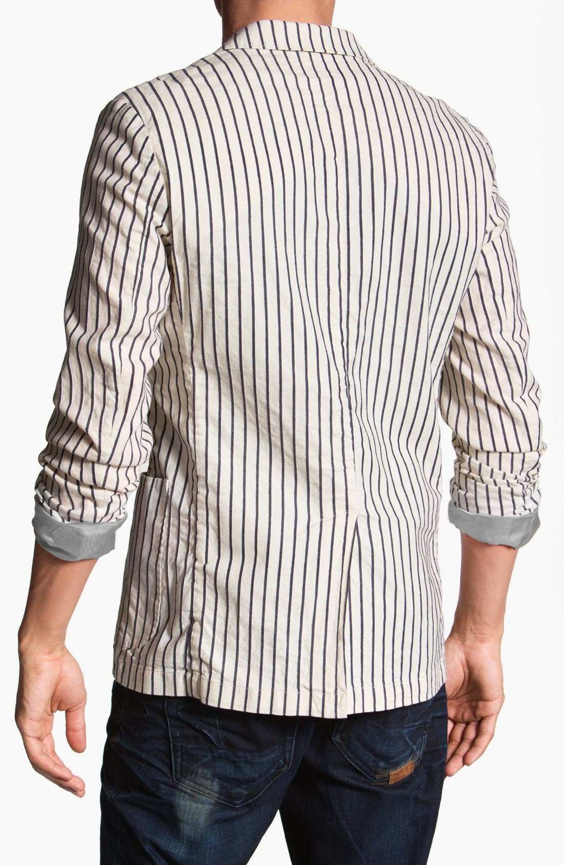 Alternate Image 2  - Scotch & Soda Stripe Cotton Blazer