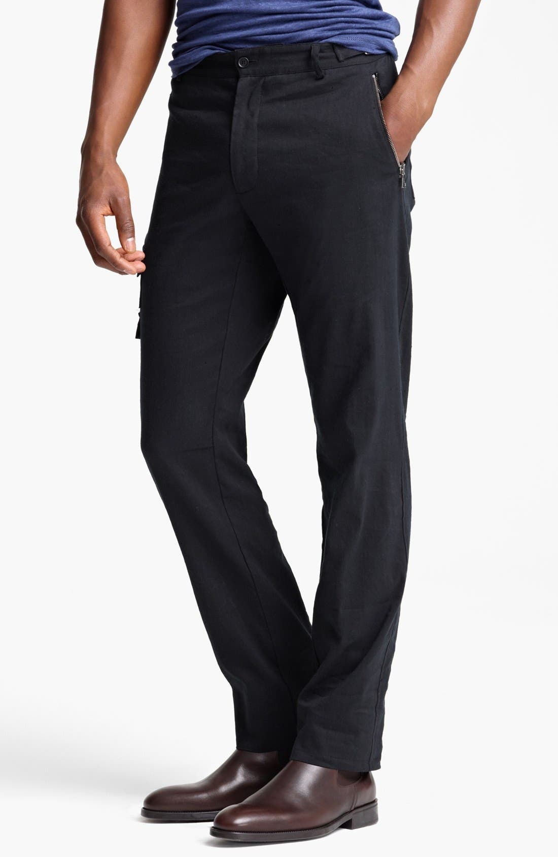 Main Image - John Varvatos Collection Slim Fit Cargo Pants