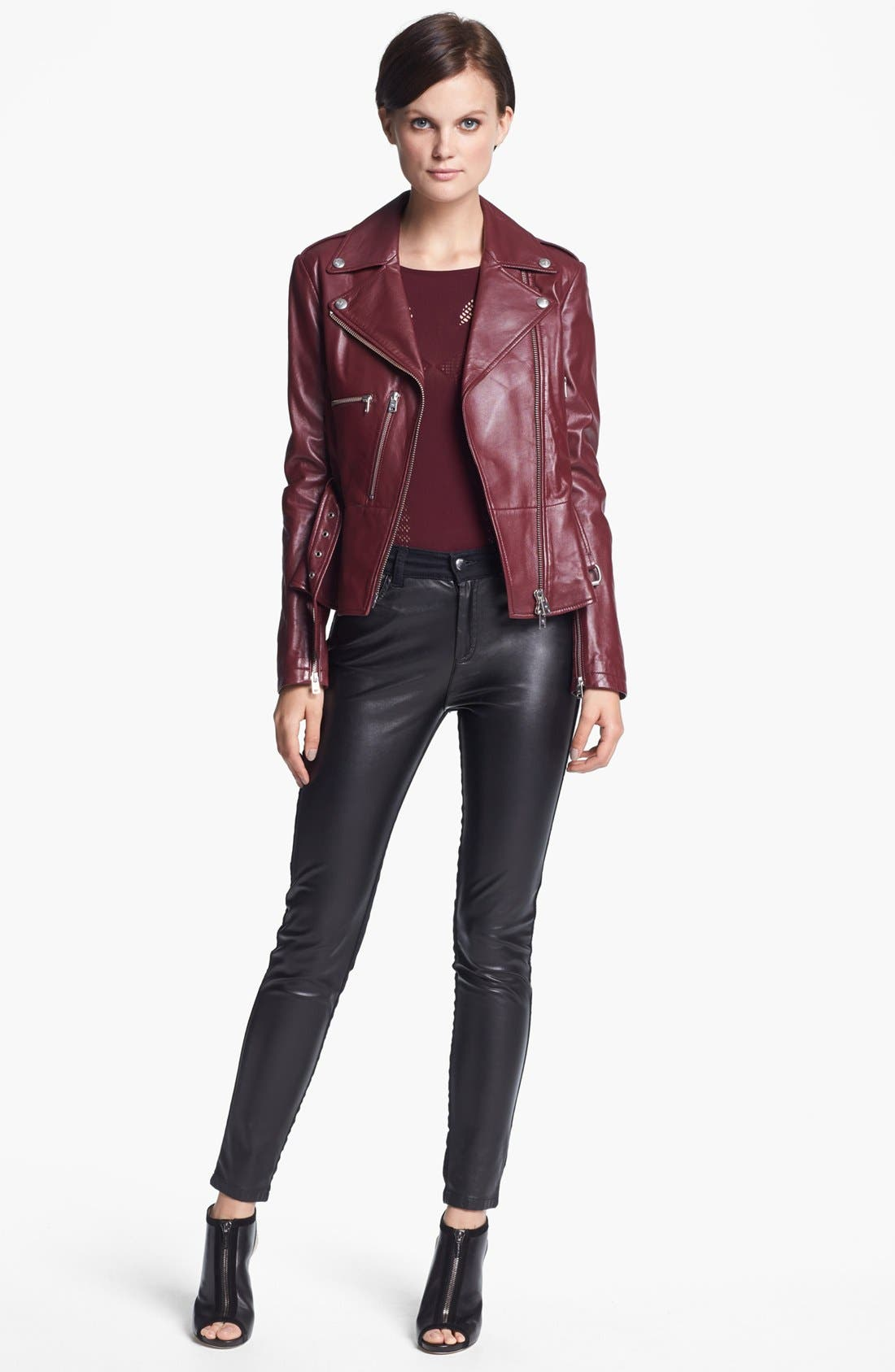Alternate Image 2  - McQ by McQueen 'Congo' Leather Biker Jacket