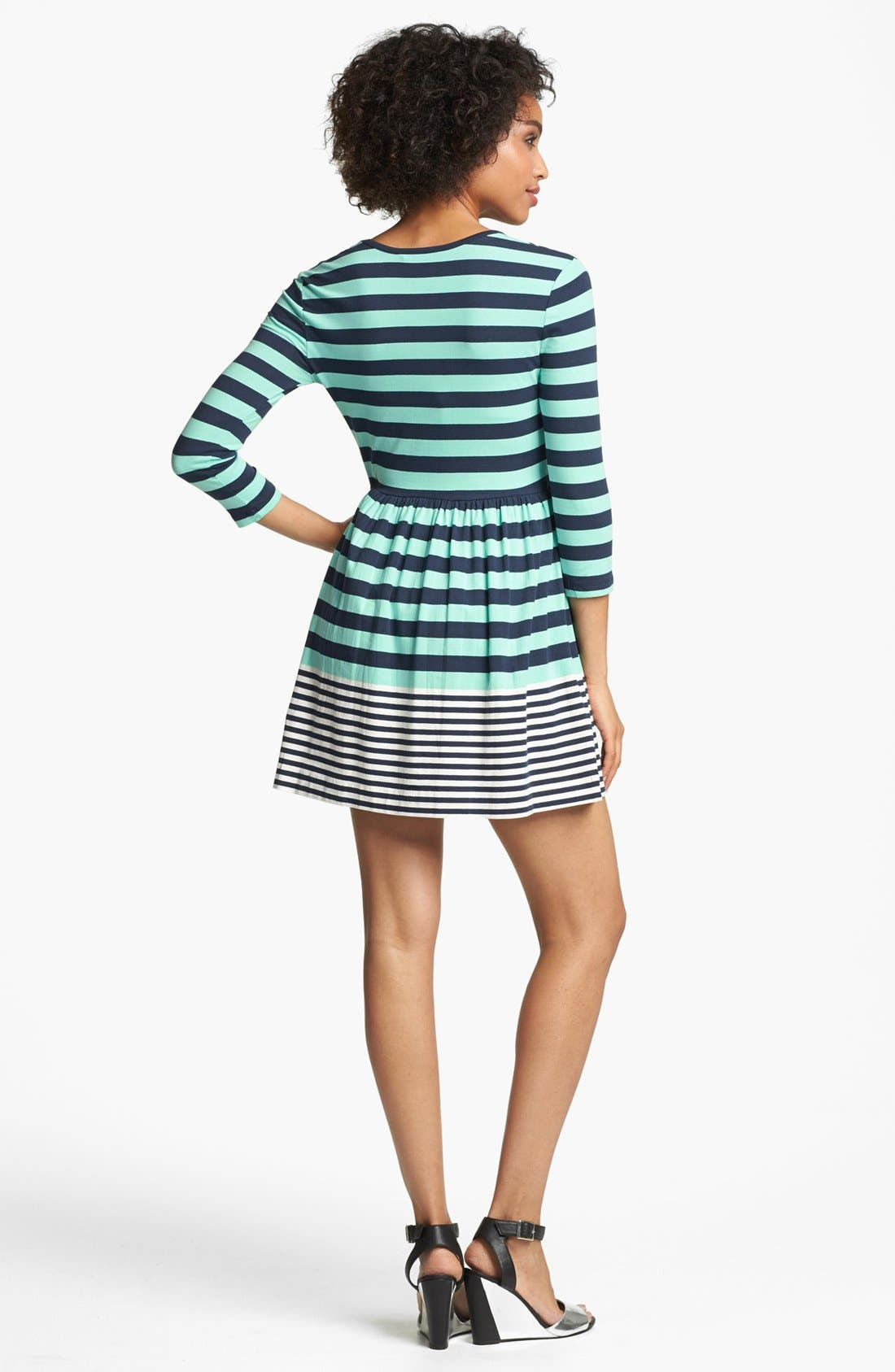 Alternate Image 2  - French Connection 'Boulevard' Stripe Fit & Flare Dress