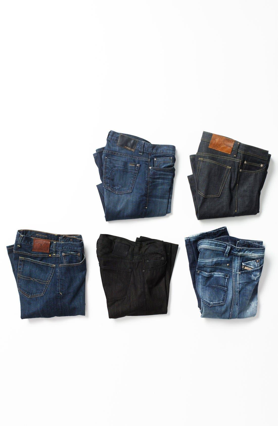 Alternate Image 5  - Fidelity Denim '5011' Straight Leg Jeans (Petrol Blue)