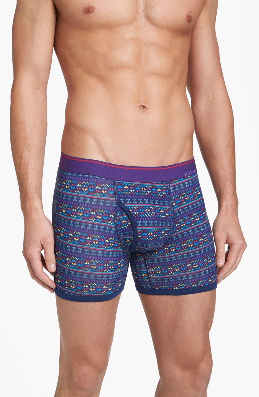 Alternate Image 3  - Basic Underwear 'Bottoms Out' Pattern Boxer Briefs (3-Pack)