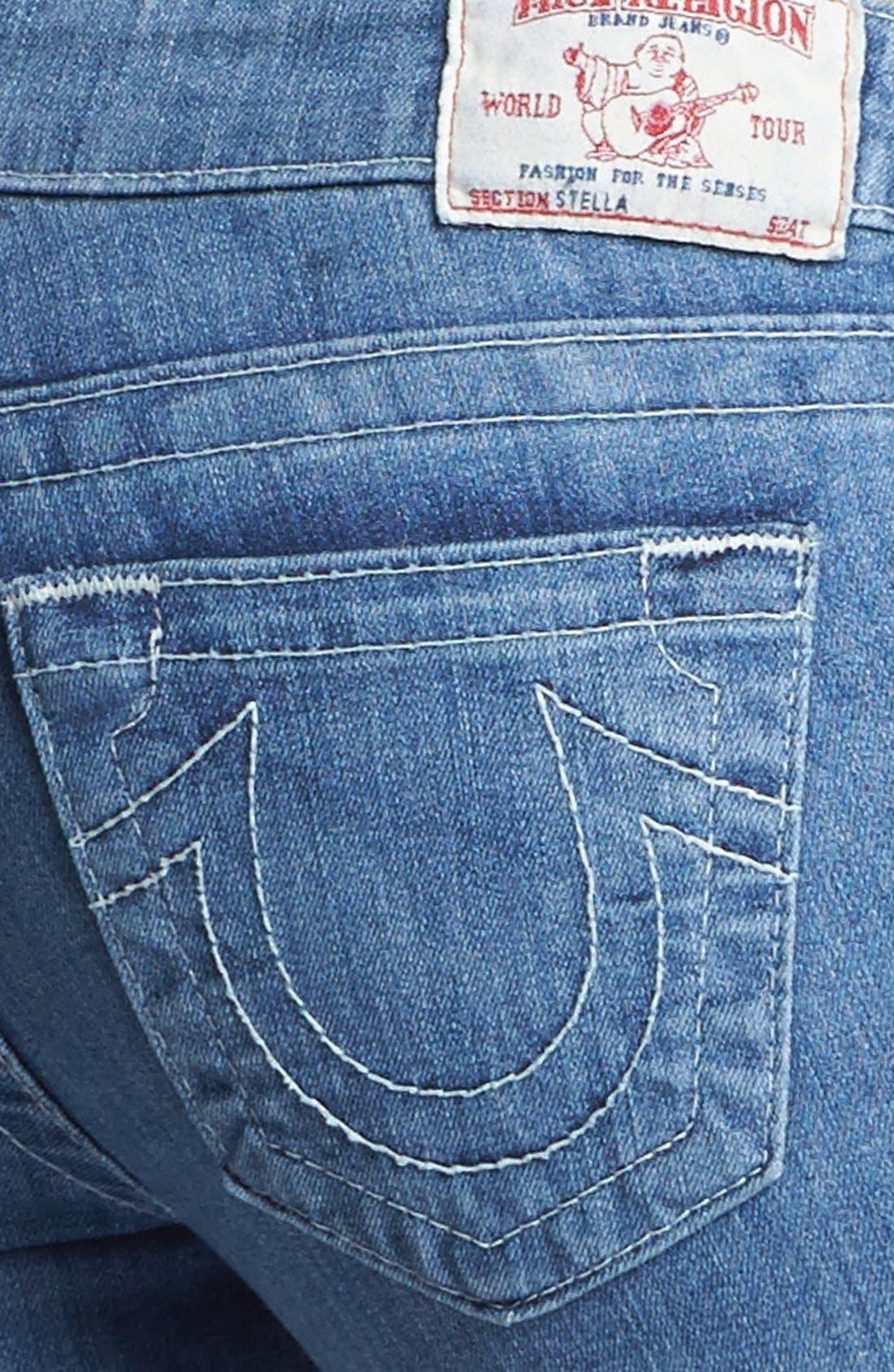 Alternate Image 3  - True Religion Brand Jeans 'Stella' Skinny Jeans (Cabin Creek)
