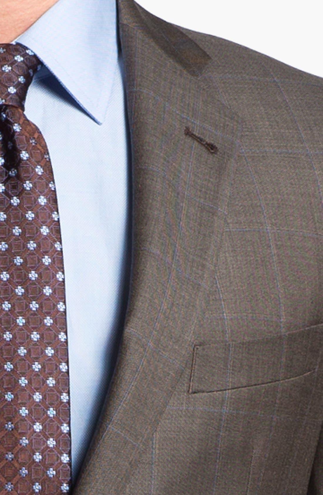 Alternate Image 2  - Joseph Abboud 'Profile Hybrid' Windowpane Trim Fit Wool Suit