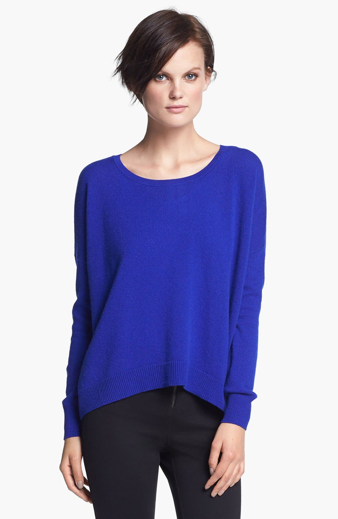 Alternate Image 1 Selected - autumn cashmere Back Zip Cashmere Sweater