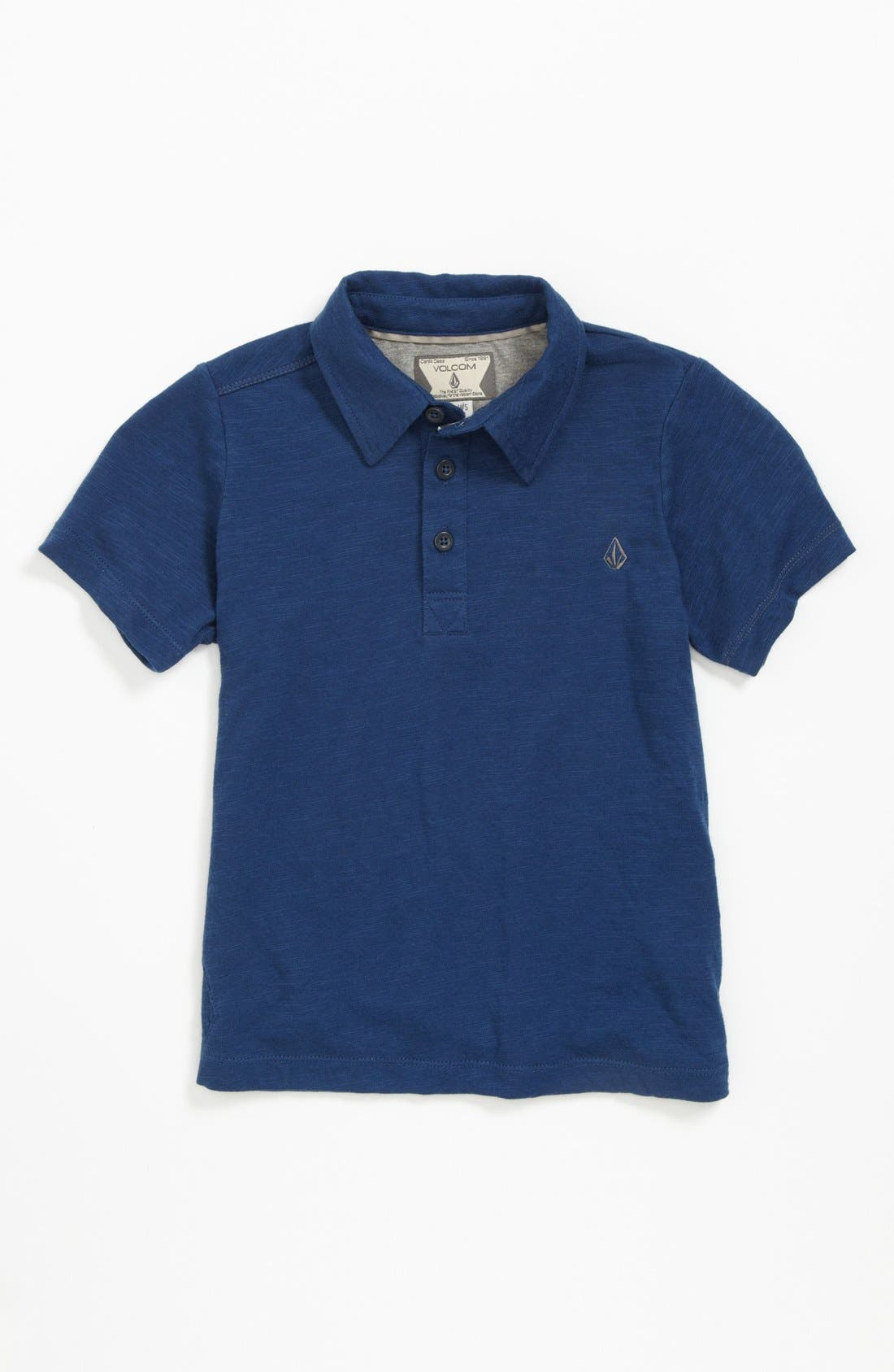 Alternate Image 1 Selected - Volcom 'Blackout' Slub Polo (Little Boys & Big Boys)