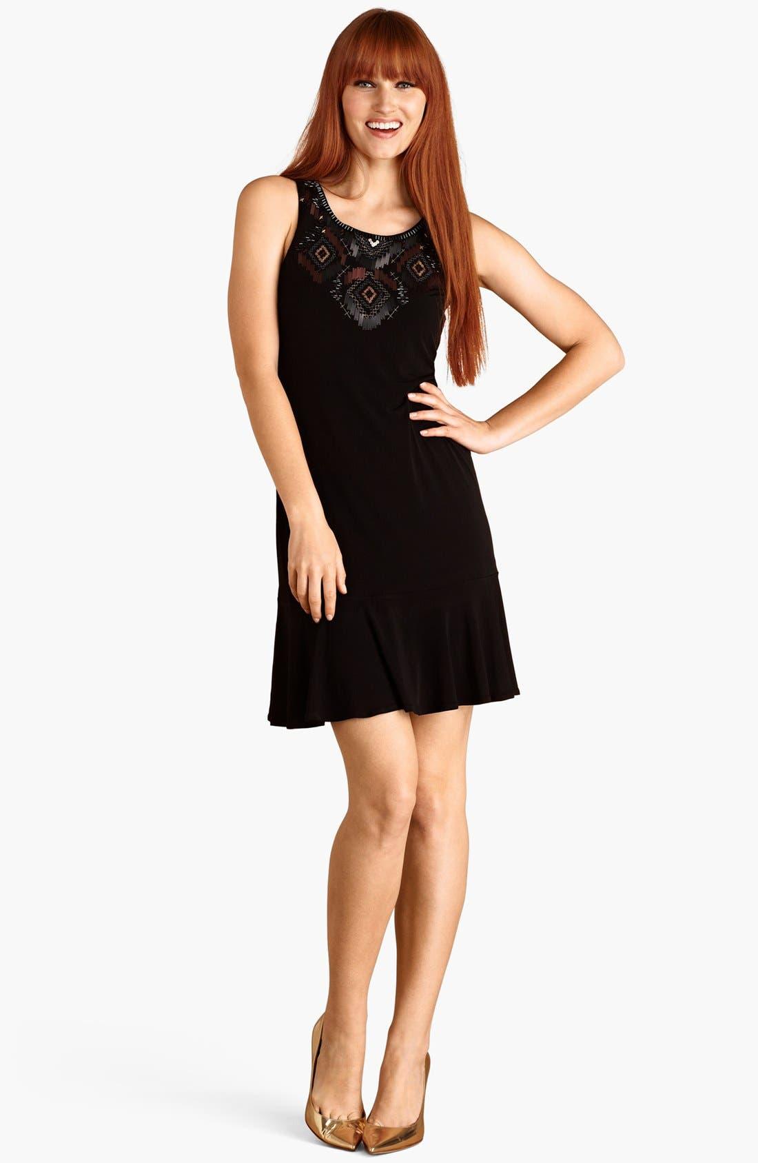 Main Image - Donna Morgan Embellished Matte Jersey Dress
