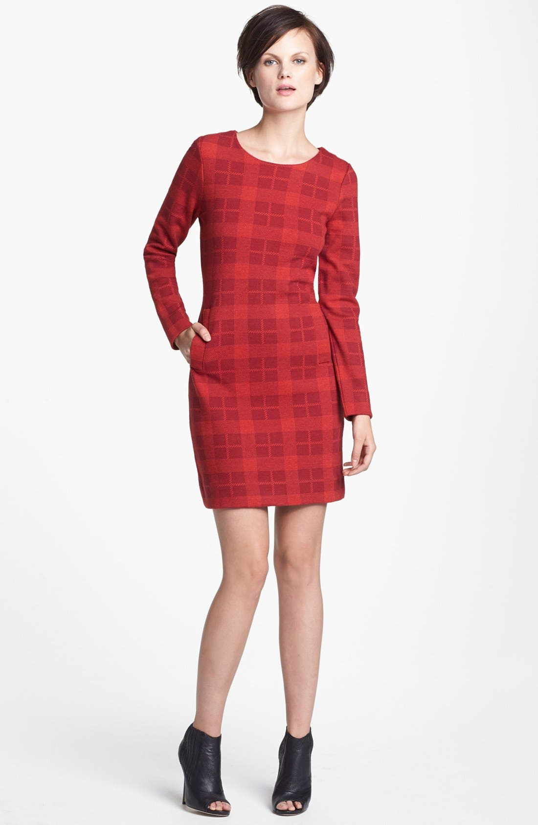 Alternate Image 1 Selected - MARC BY MARC JACOBS 'Maya' Plaid Wool Blend Sheath Dress