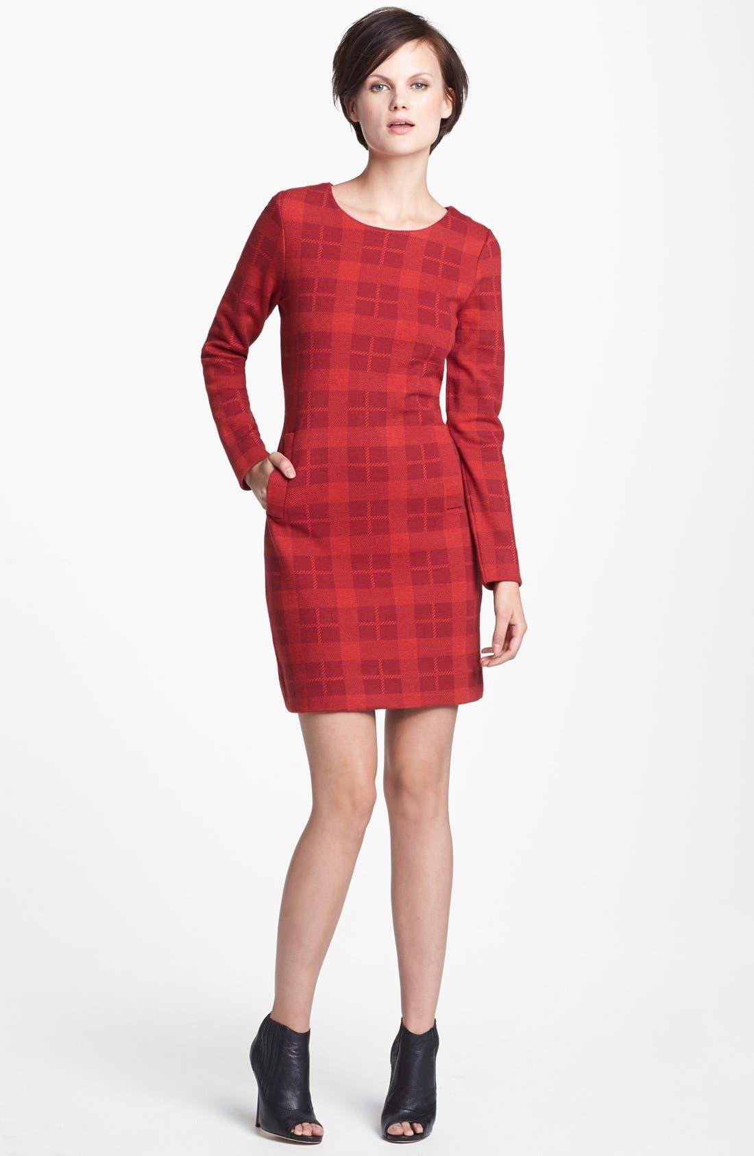 Main Image - MARC BY MARC JACOBS 'Maya' Plaid Wool Blend Sheath Dress