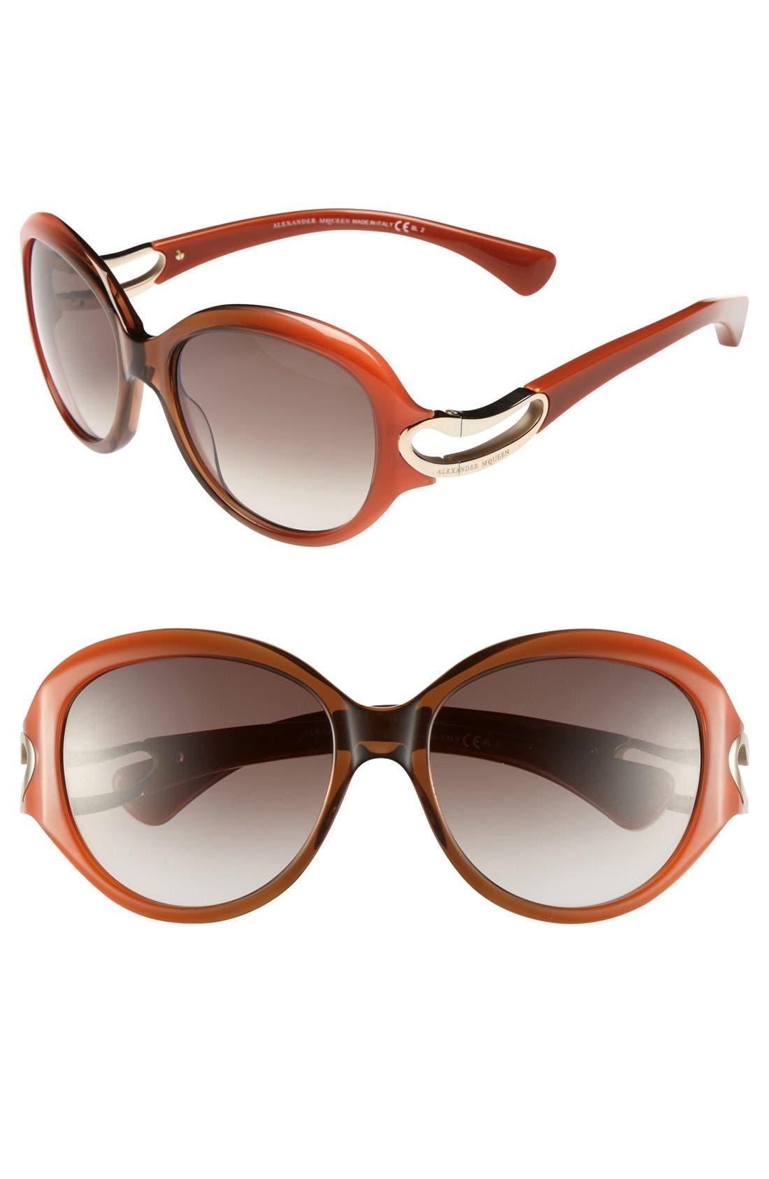 Alternate Image 1 Selected - Alexander McQueen 56mm Retro Sunglasses