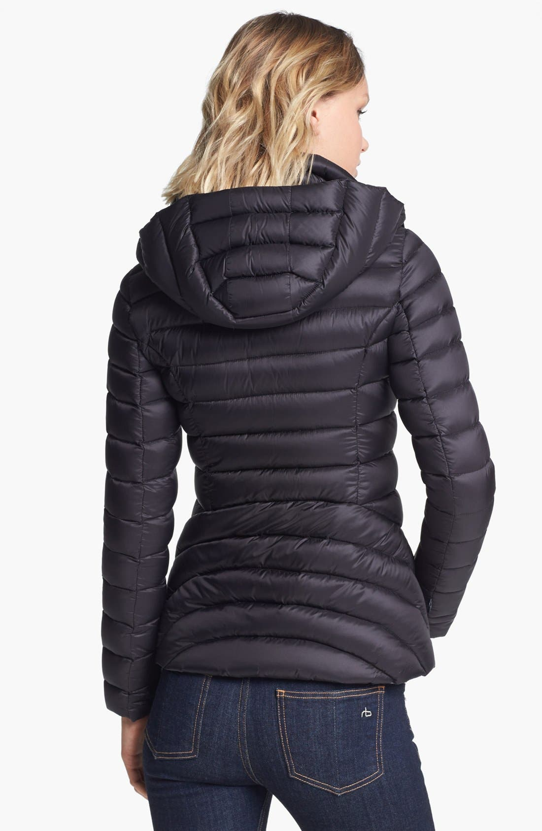 Alternate Image 2  - Soia & Kyo Hooded Packable Down Jacket with Front Insert