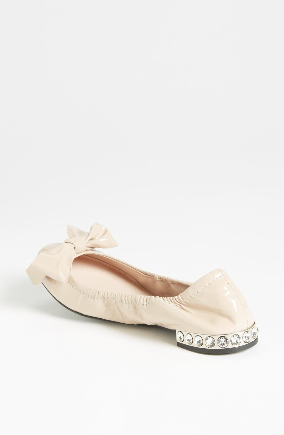 Alternate Image 2  - Miu Miu Jeweled Heel Ballerina Flat