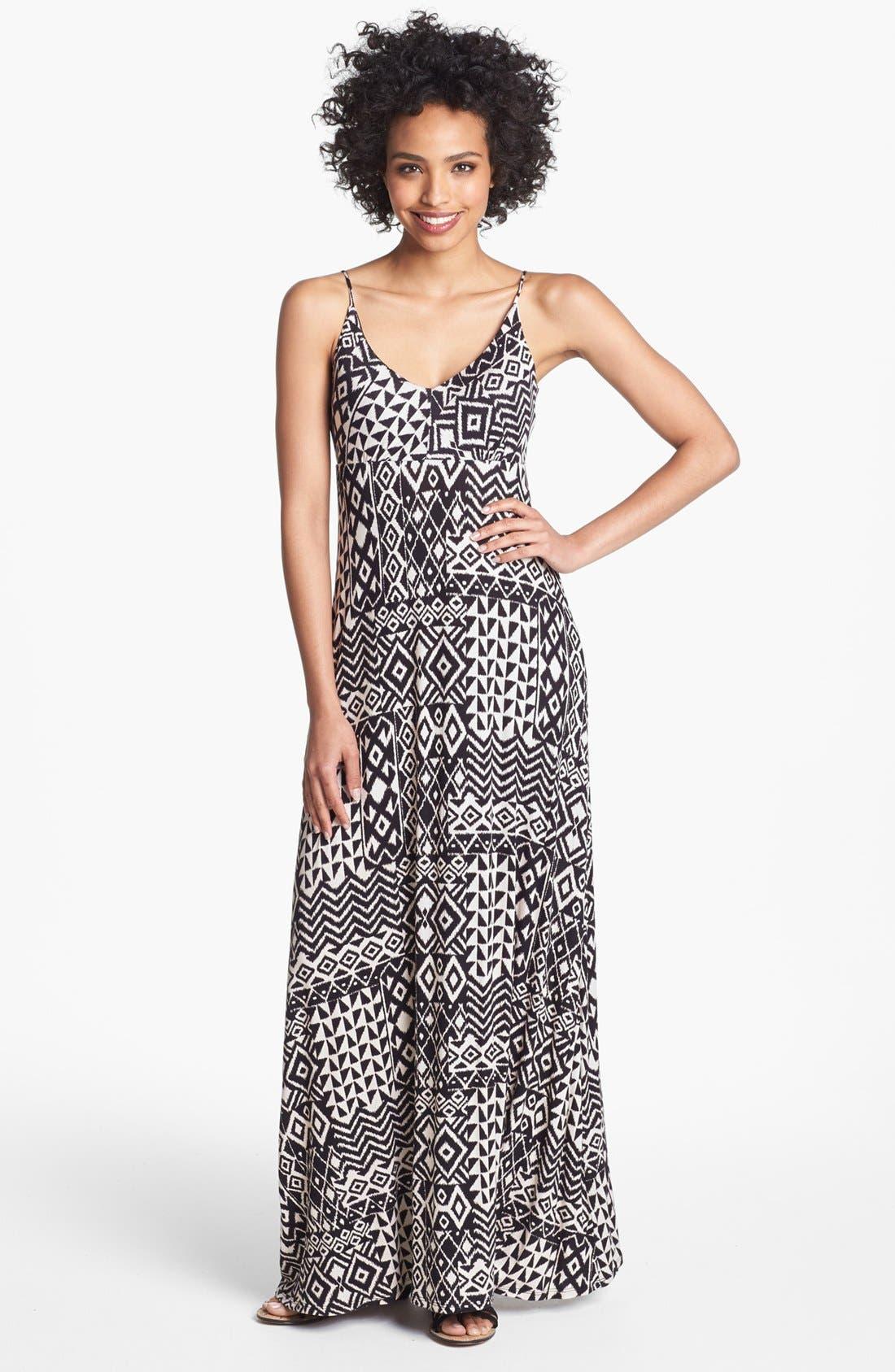 Alternate Image 1 Selected - Olivia Moon Print Maxi Dress