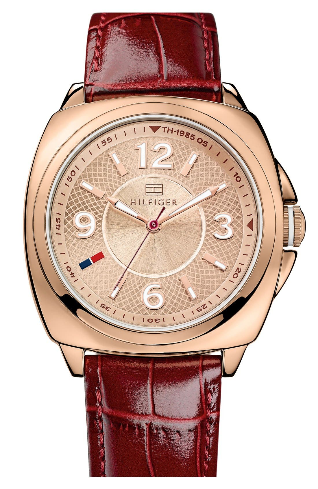 Alternate Image 1 Selected - Tommy Hilfiger Cushion Case Watch, 38mm