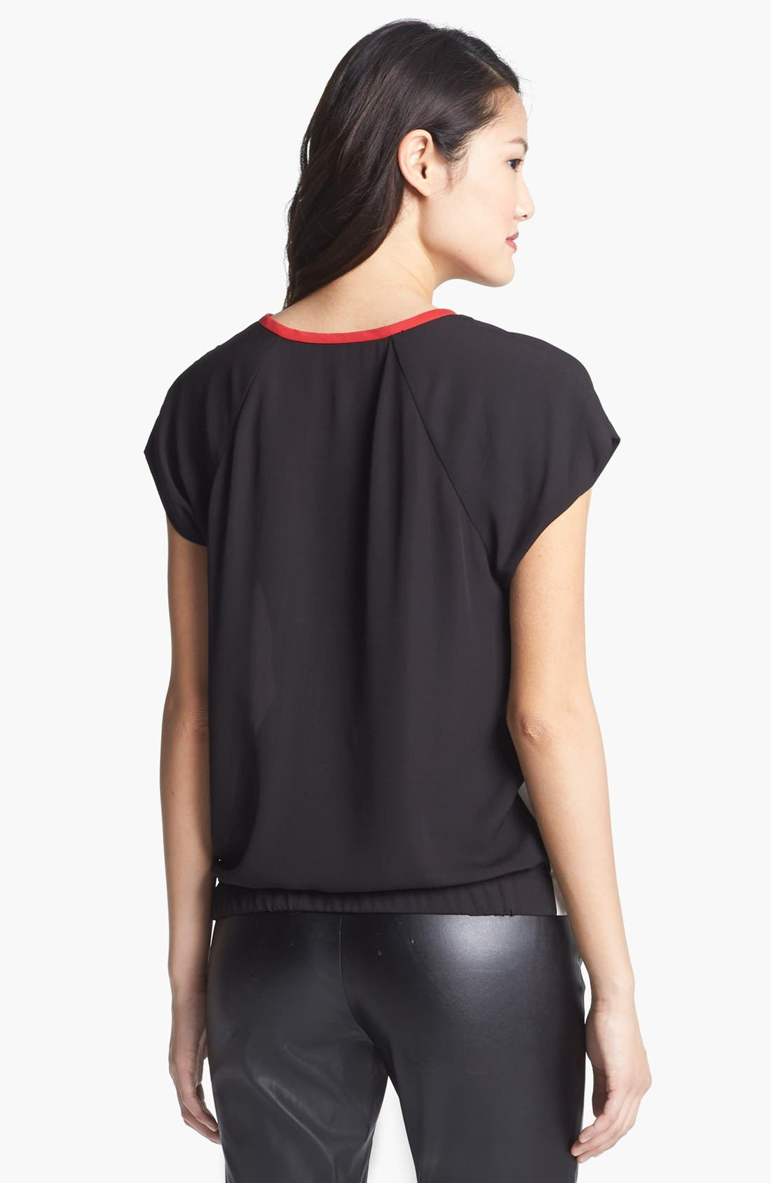 Alternate Image 3  - Vince Camuto Colorblock Blouse (Regular & Petite)