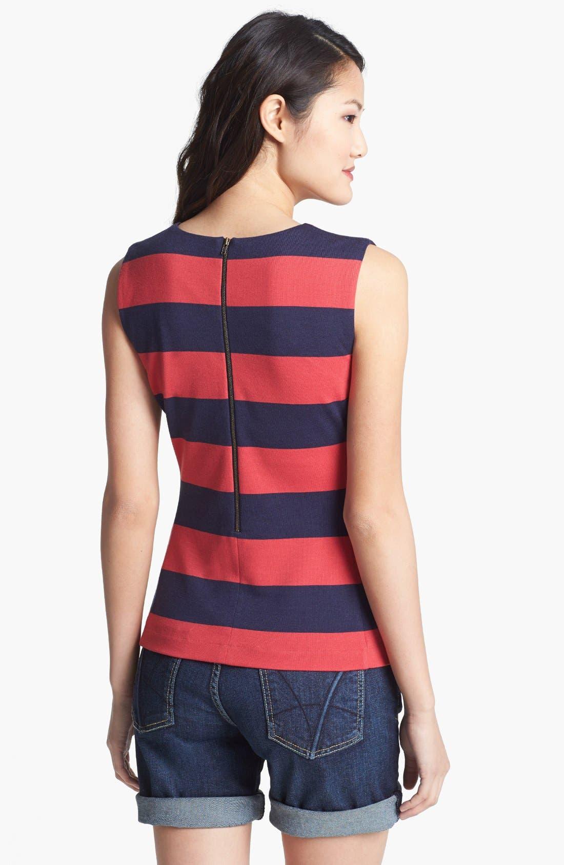 Alternate Image 2  - Halogen® Embellished Stripe Shell
