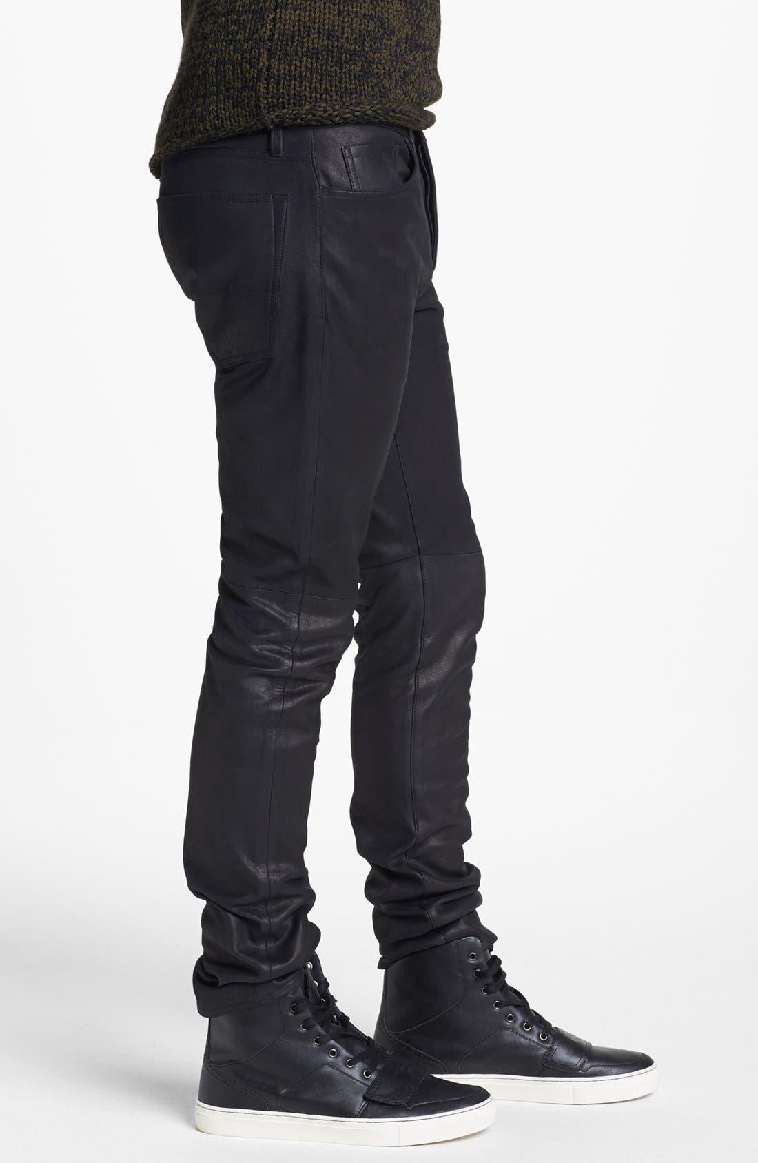 Alternate Image 3  - Vince Five Pocket Leather Pants