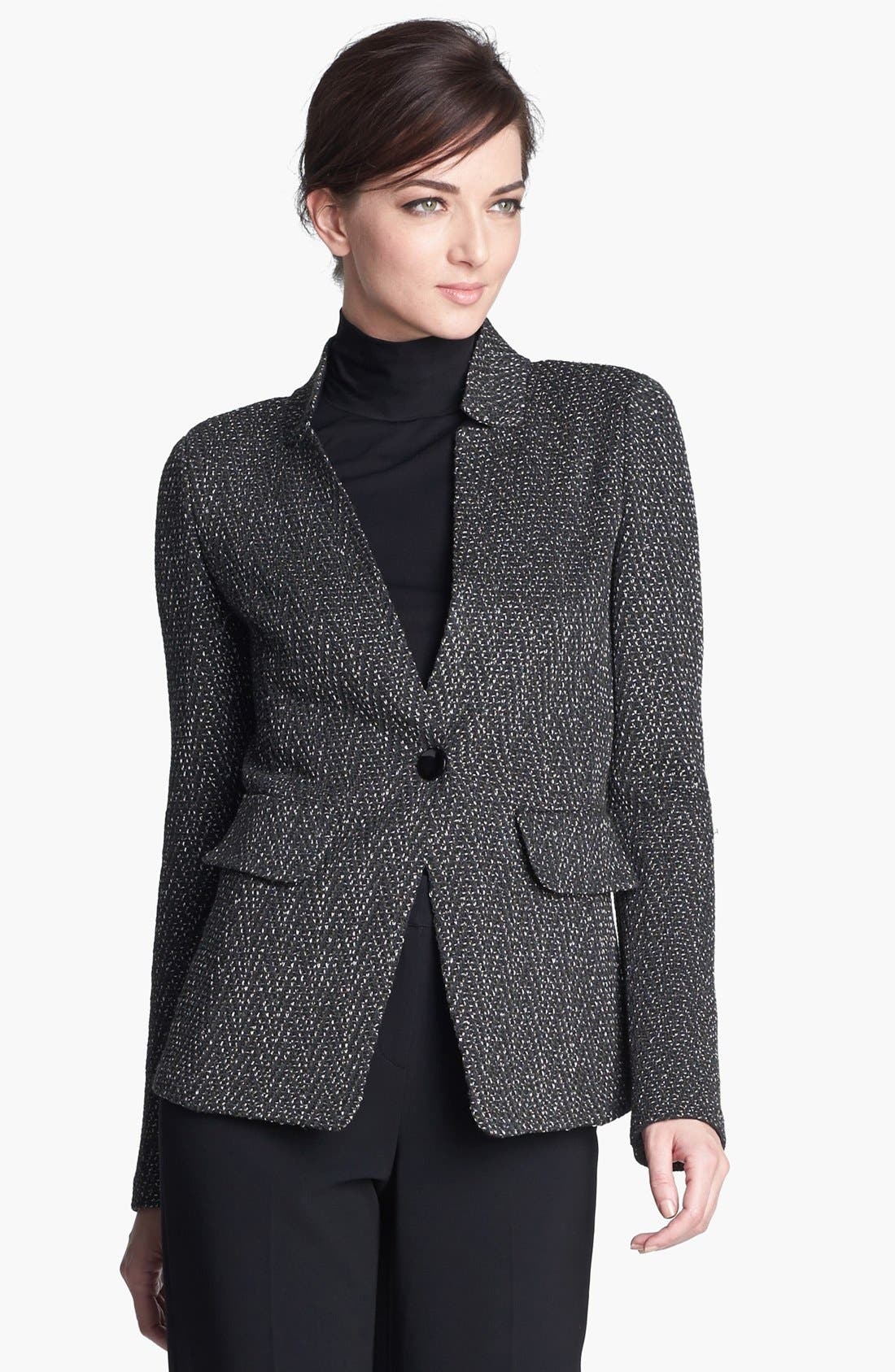 Main Image - St. John Collection Donegal Chevron Tweed Knit Jacket
