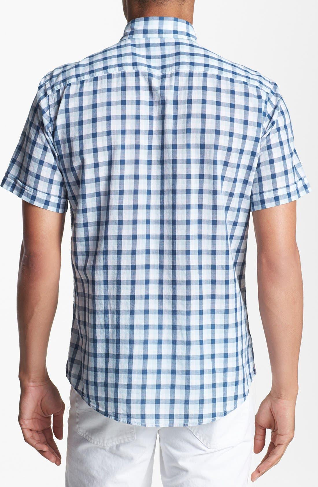 Alternate Image 2  - Benson Check Short Sleeve Sport Shirt